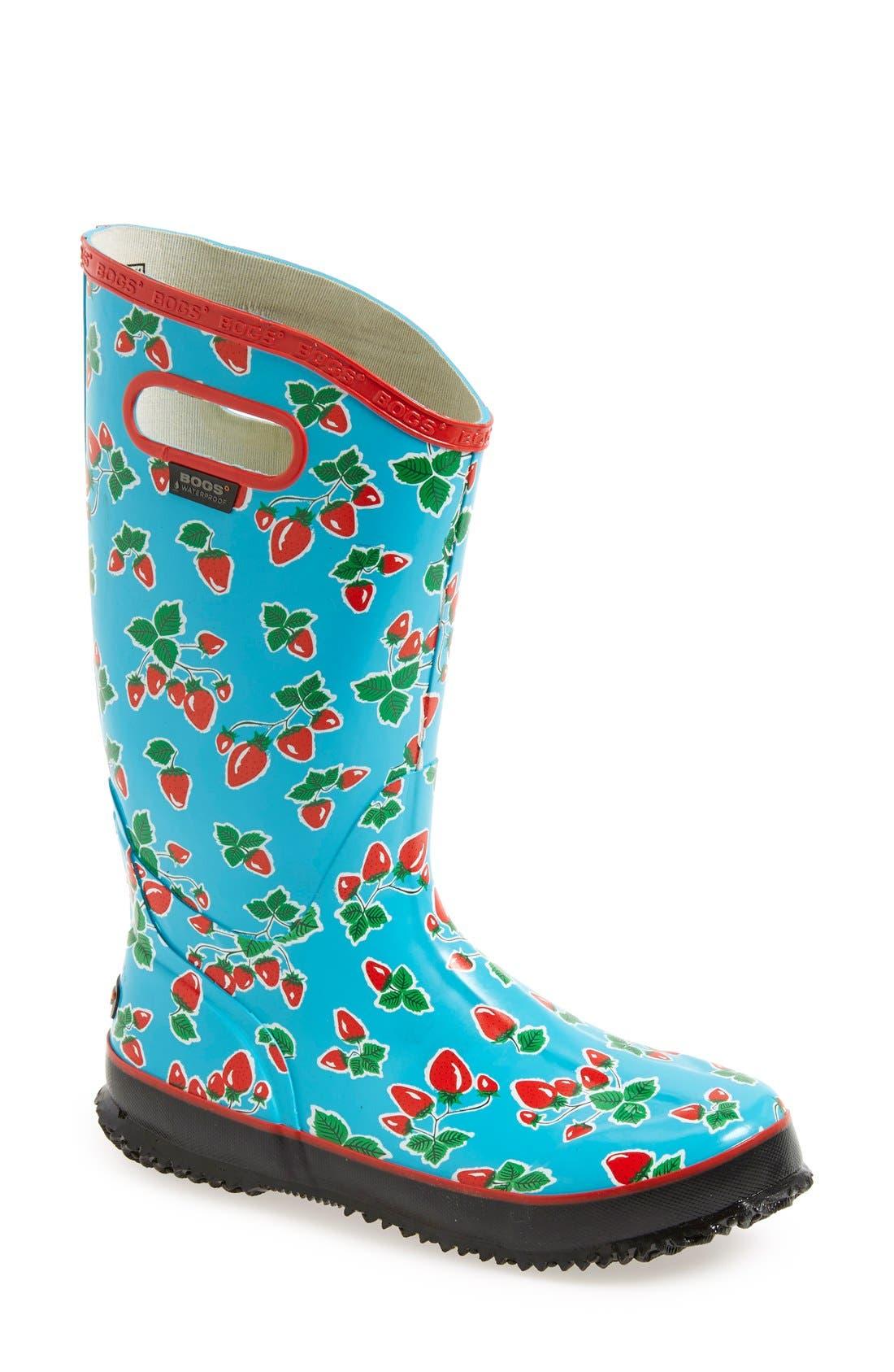 'Fruit' Waterproof Rain Boot, Main, color, 440