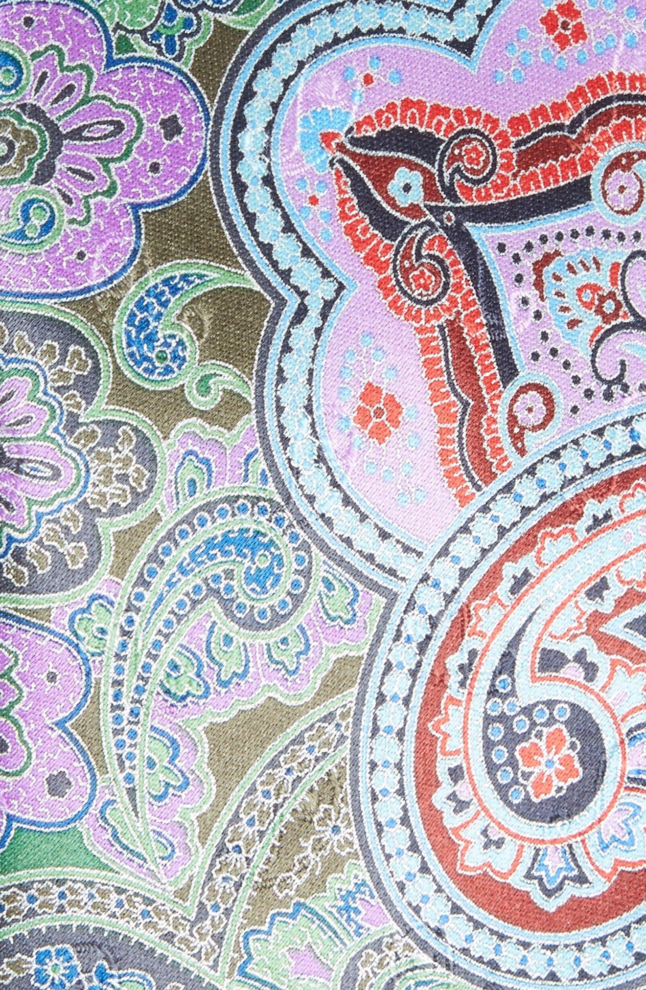 Quindici Paisley Silk Tie,                             Alternate thumbnail 2, color,                             318