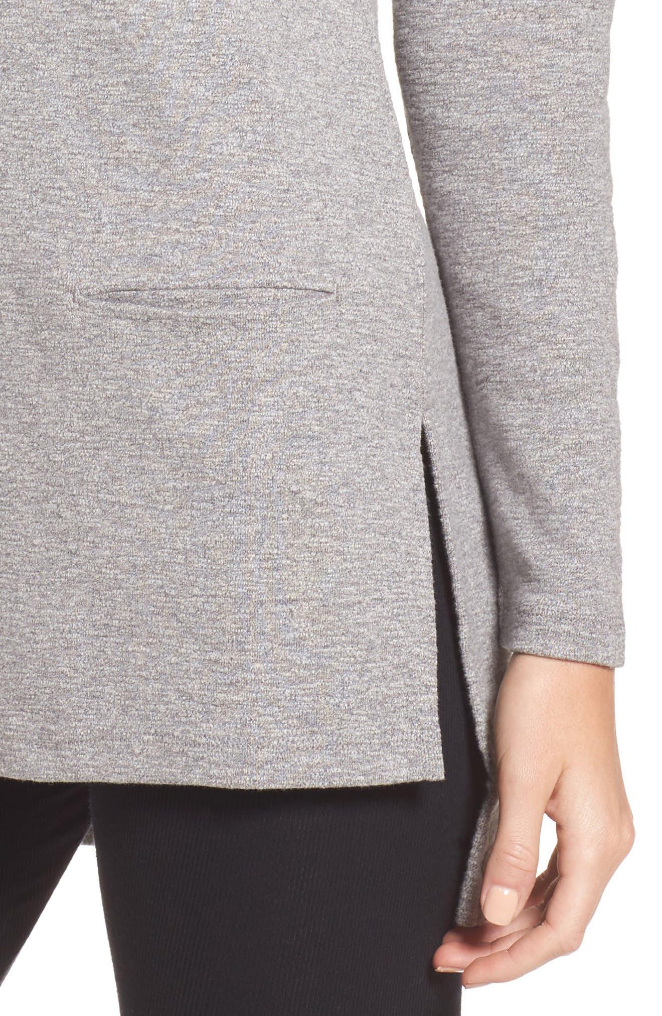 Luella High/Low Cotton Pullover,                             Alternate thumbnail 4, color,                             041
