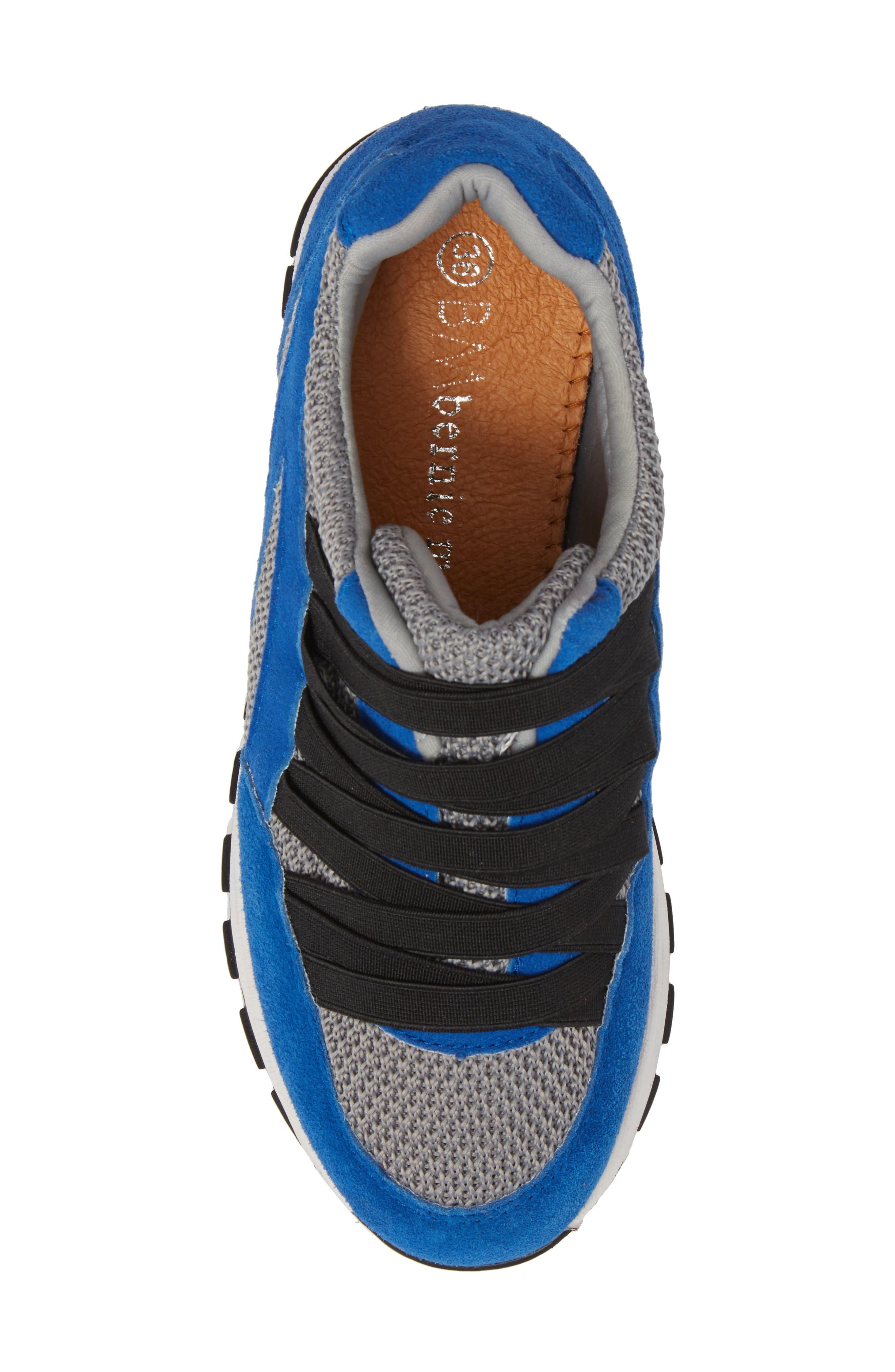 Bernie Mev Tara Cano Sneaker,                             Alternate thumbnail 5, color,                             ROYAL BLUE/ GREY FABRIC