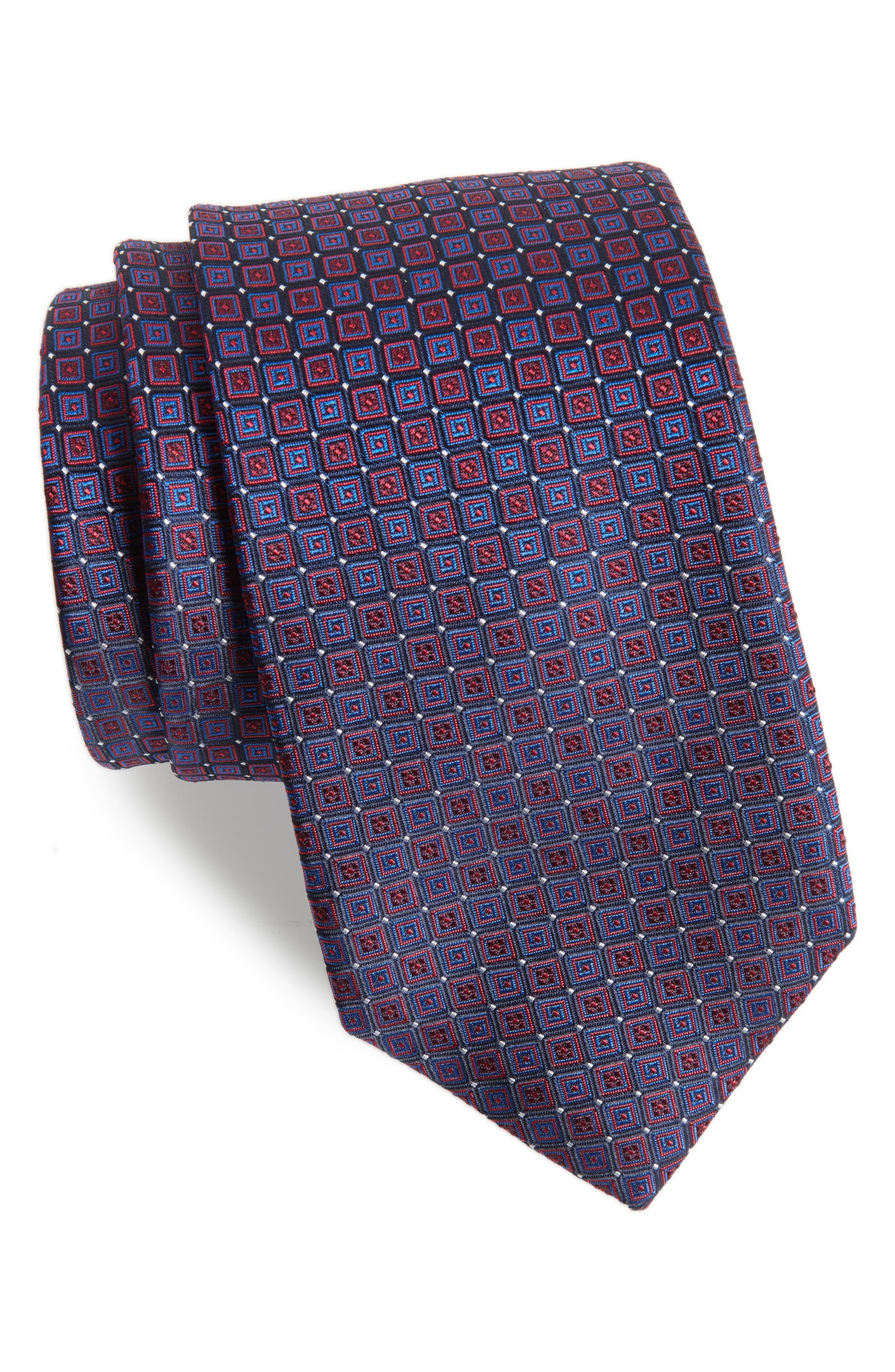 Geometric Silk Tie,                             Main thumbnail 1, color,                             512