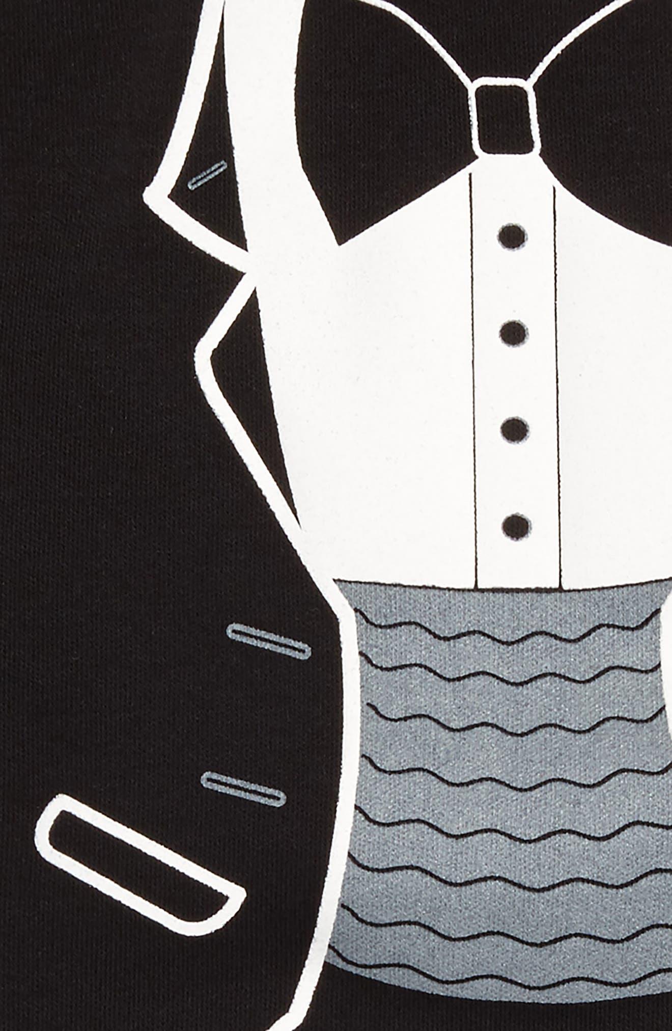 Tuxedo Print Bodysuit,                             Alternate thumbnail 2, color,                             005