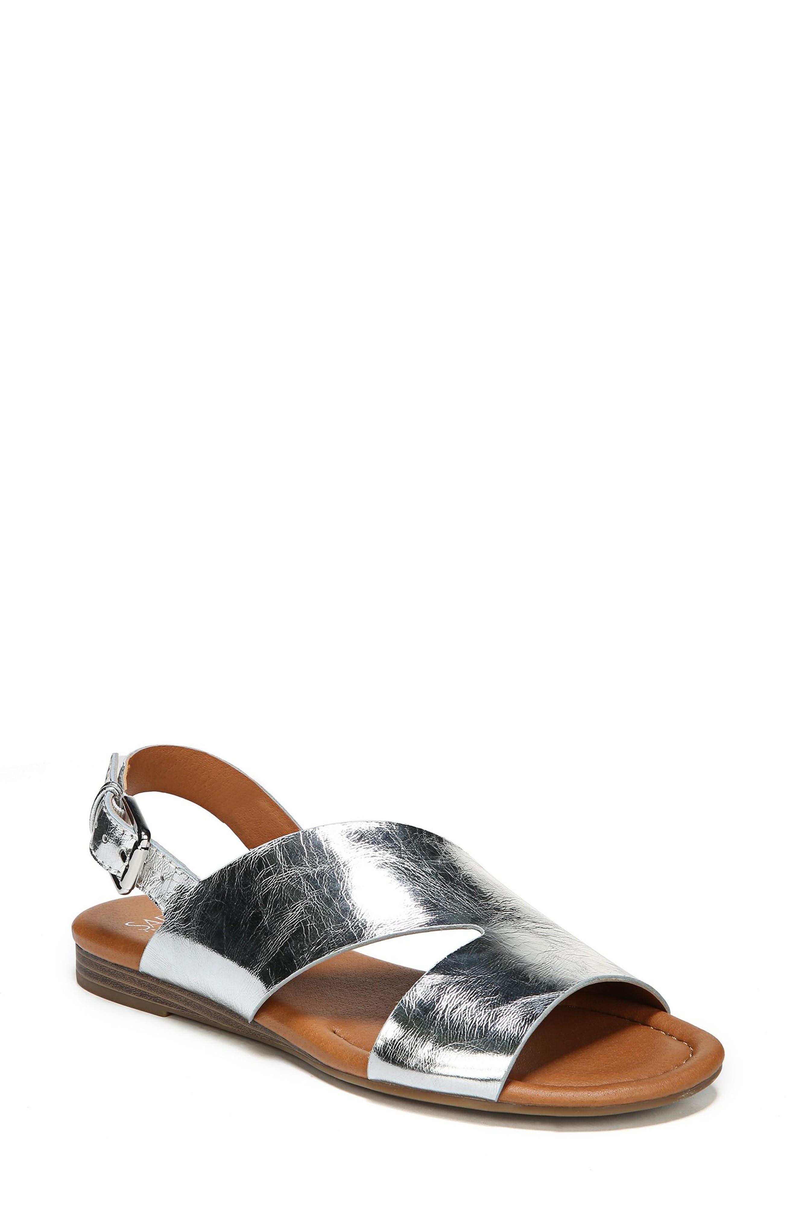 Garza Slingback Sandal,                         Main,                         color, ARGENTO LEATHER