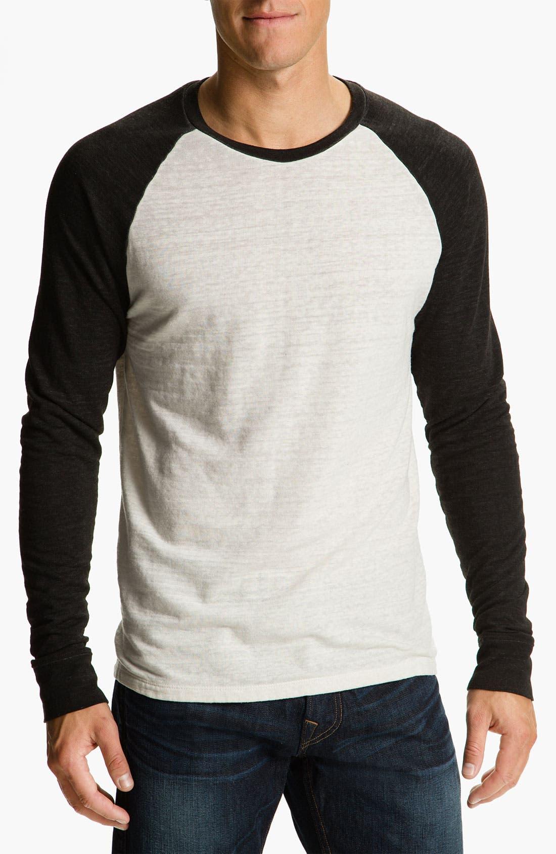 Washed Raglan Sleeve Sweatshirt,                             Main thumbnail 5, color,