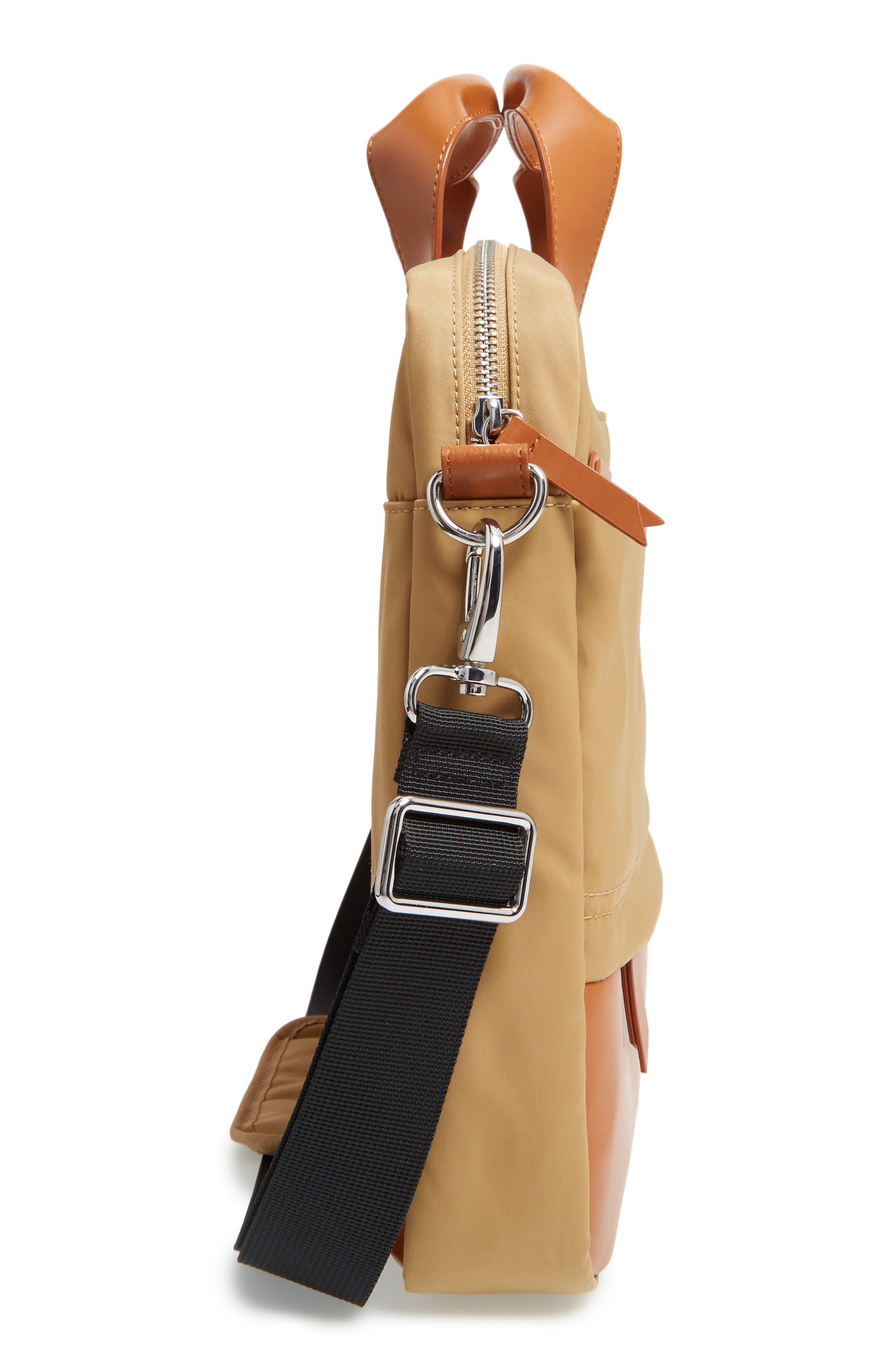 Kate Under Lock & Key Alexus Nylon & Leather Briefcase,                             Alternate thumbnail 15, color,