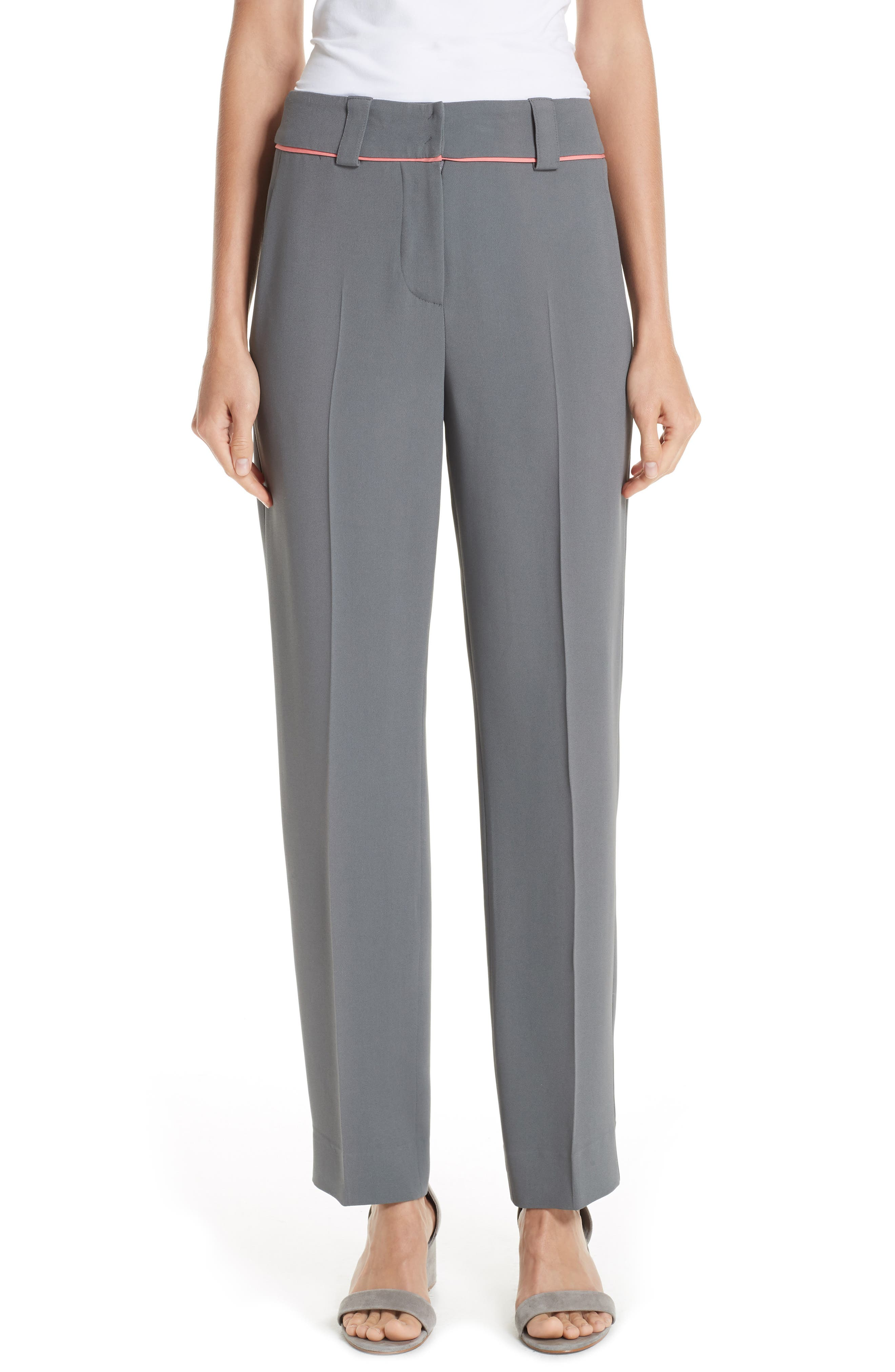 Piped Ankle Pants, Main, color, ROCCIA
