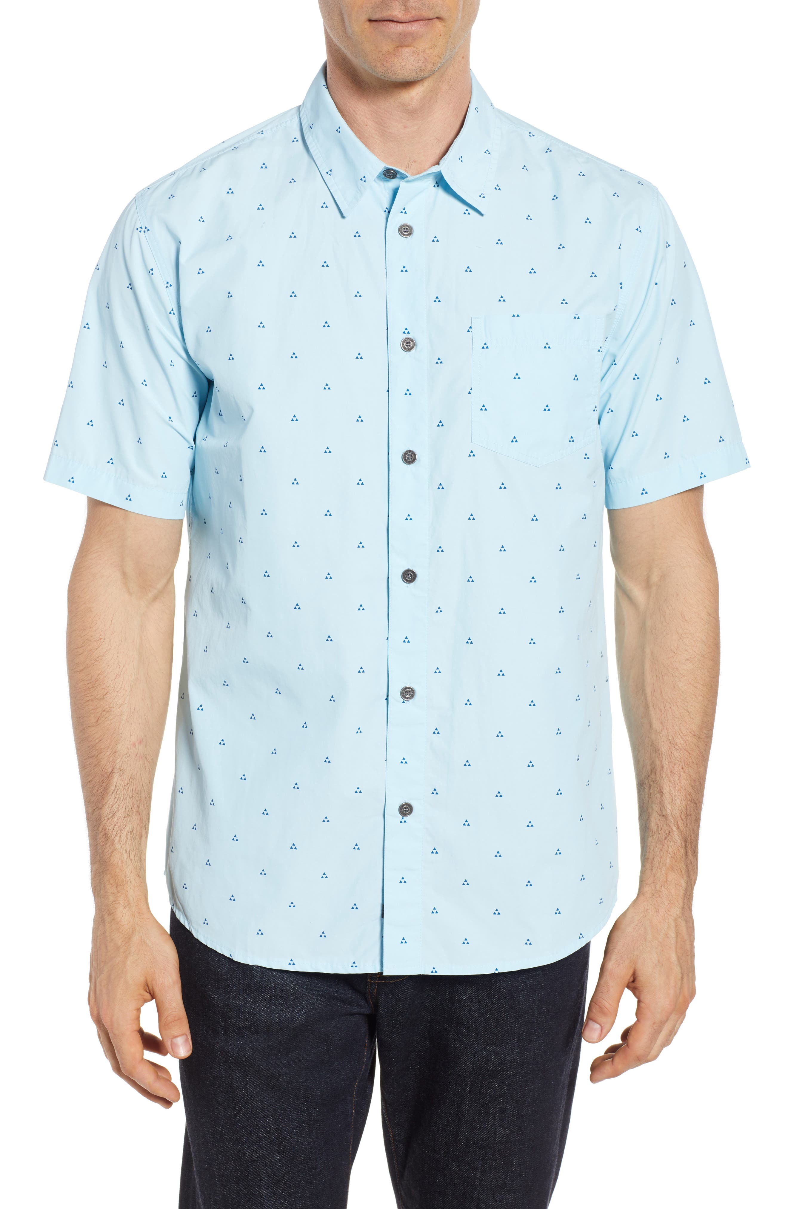 Trailblazed Regular Fit Performance Sport Shirt,                         Main,                         color, CRYSTAL BLUE