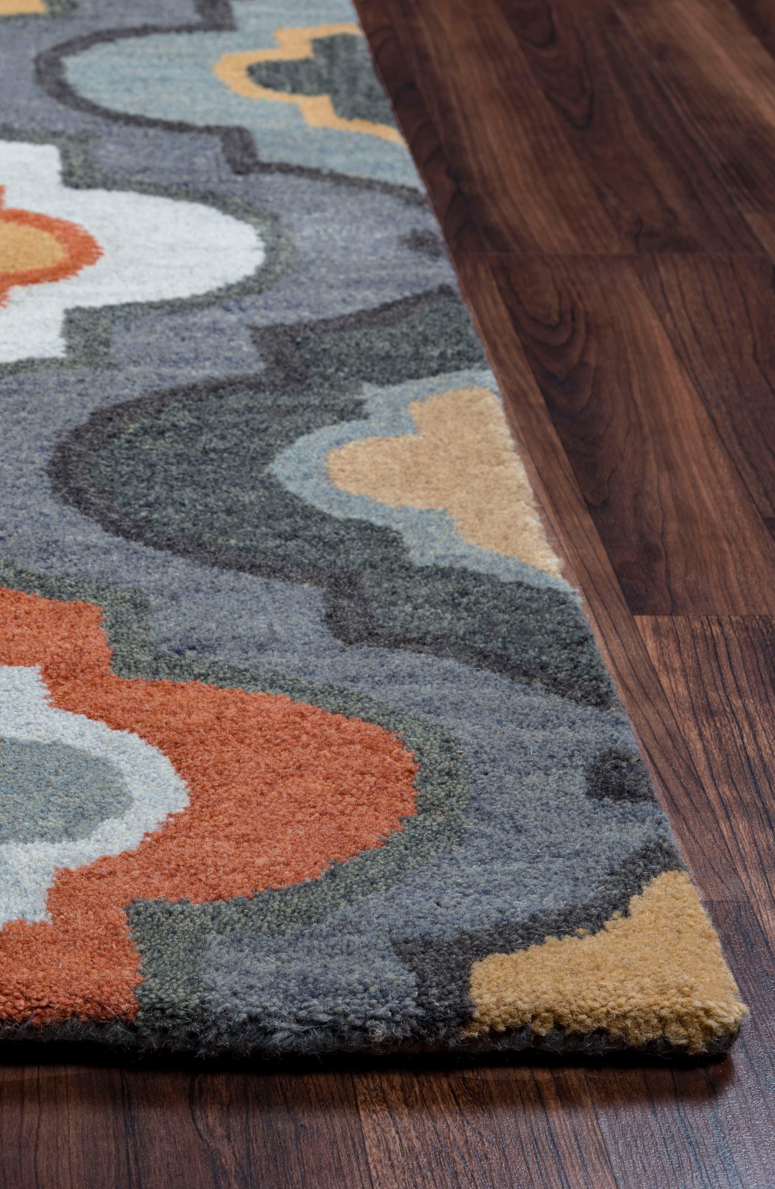 'Quatrefoil' Hand Tufted Wool Area Rug,                             Alternate thumbnail 5, color,                             030