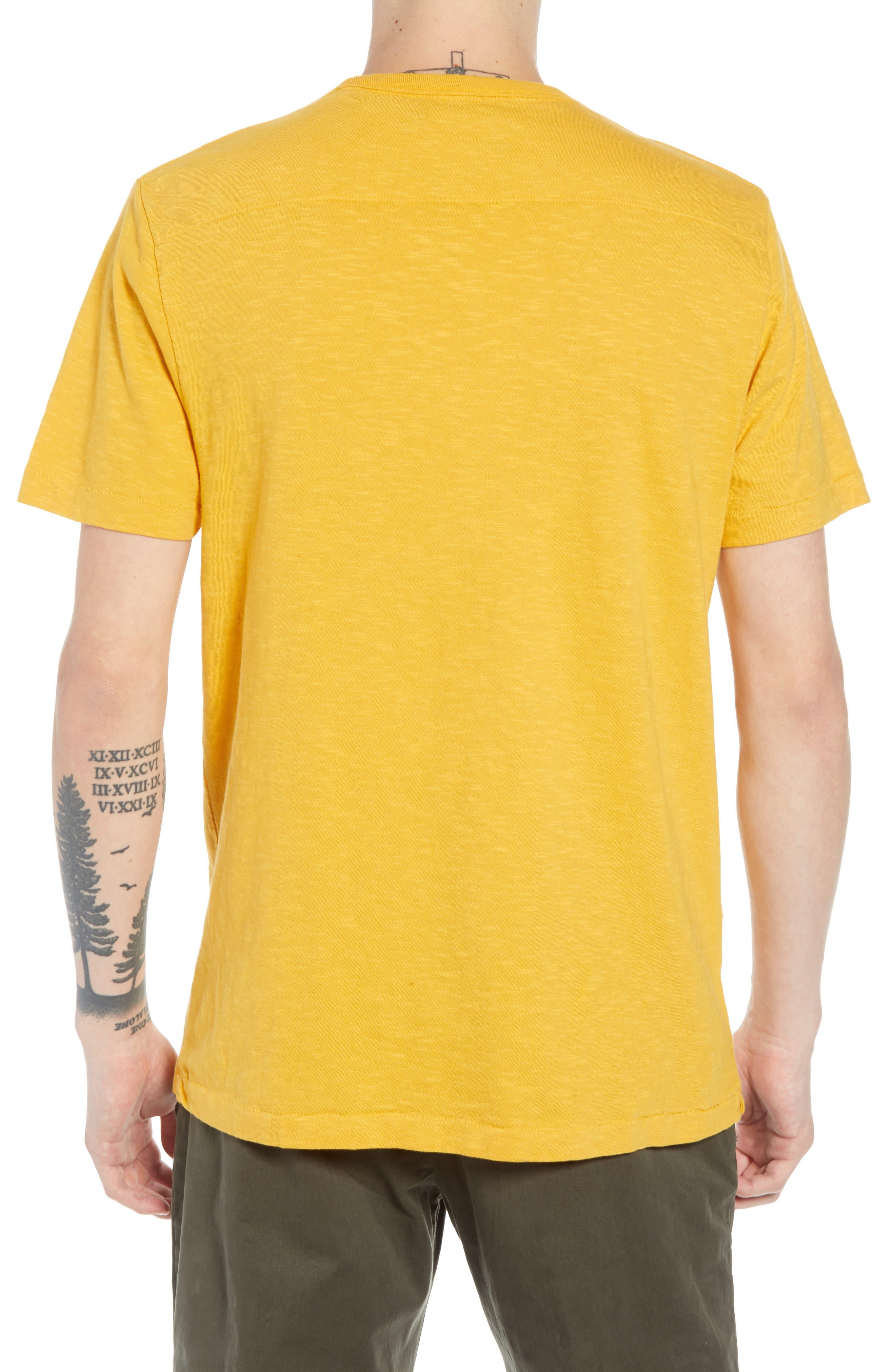 Joy of Living Slubbed T-Shirt,                             Alternate thumbnail 2, color,                             CALLUNA YELLOW BLACK