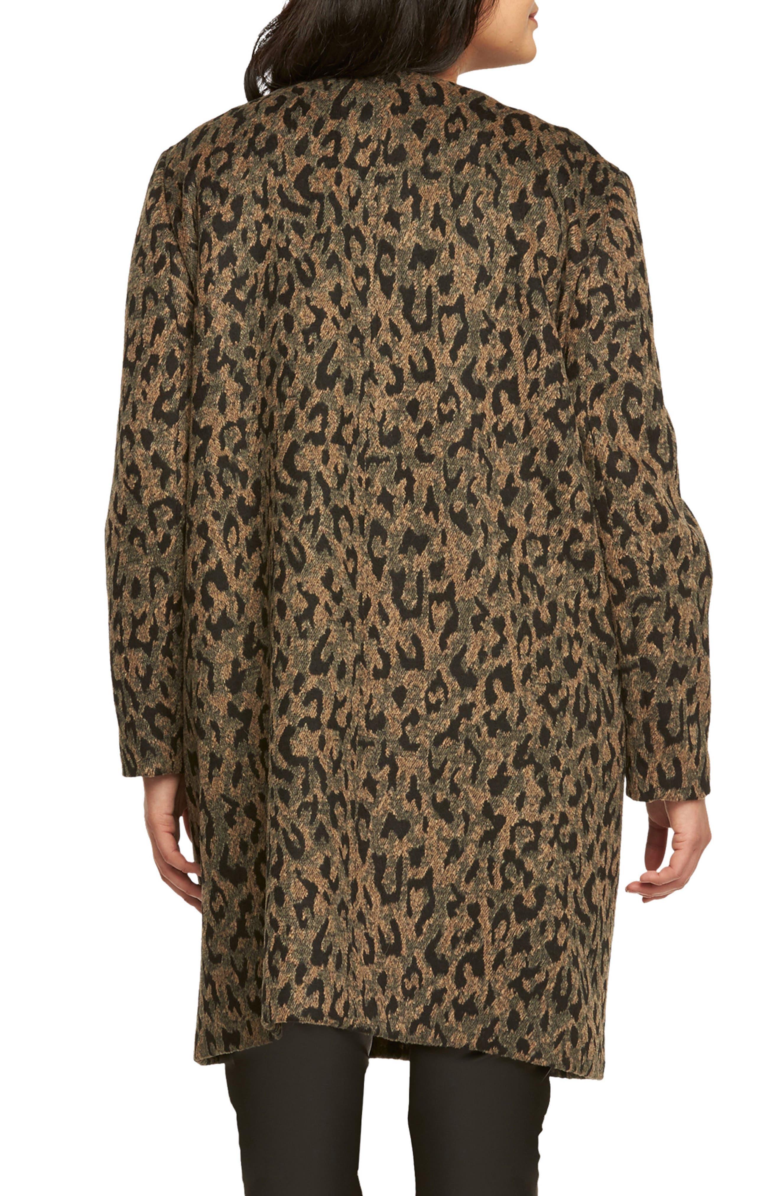 Ashton Leopard Print Coat,                             Alternate thumbnail 2, color,                             208