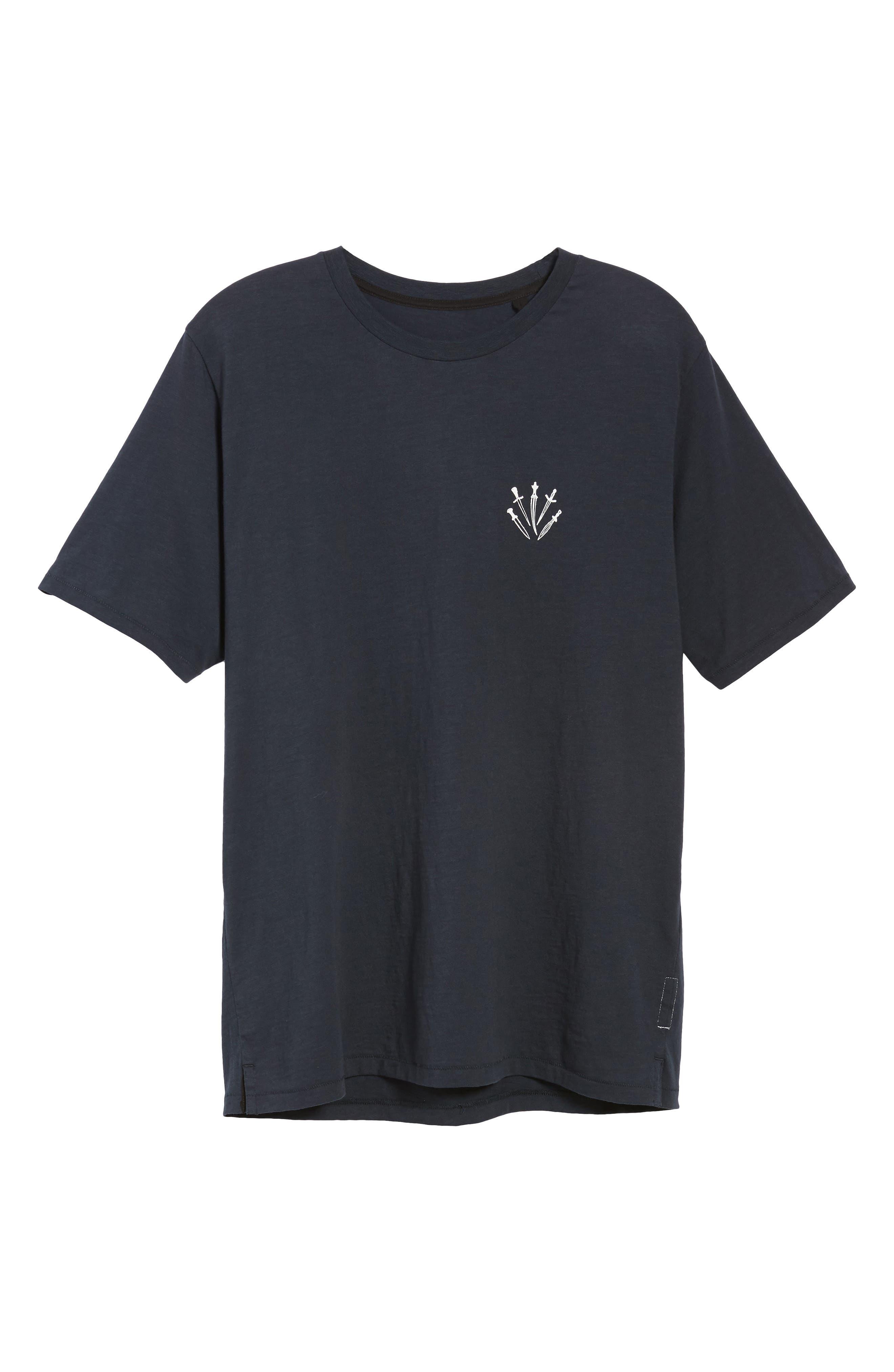 Dagger Graphic T-Shirt,                             Alternate thumbnail 6, color,                             NAVY