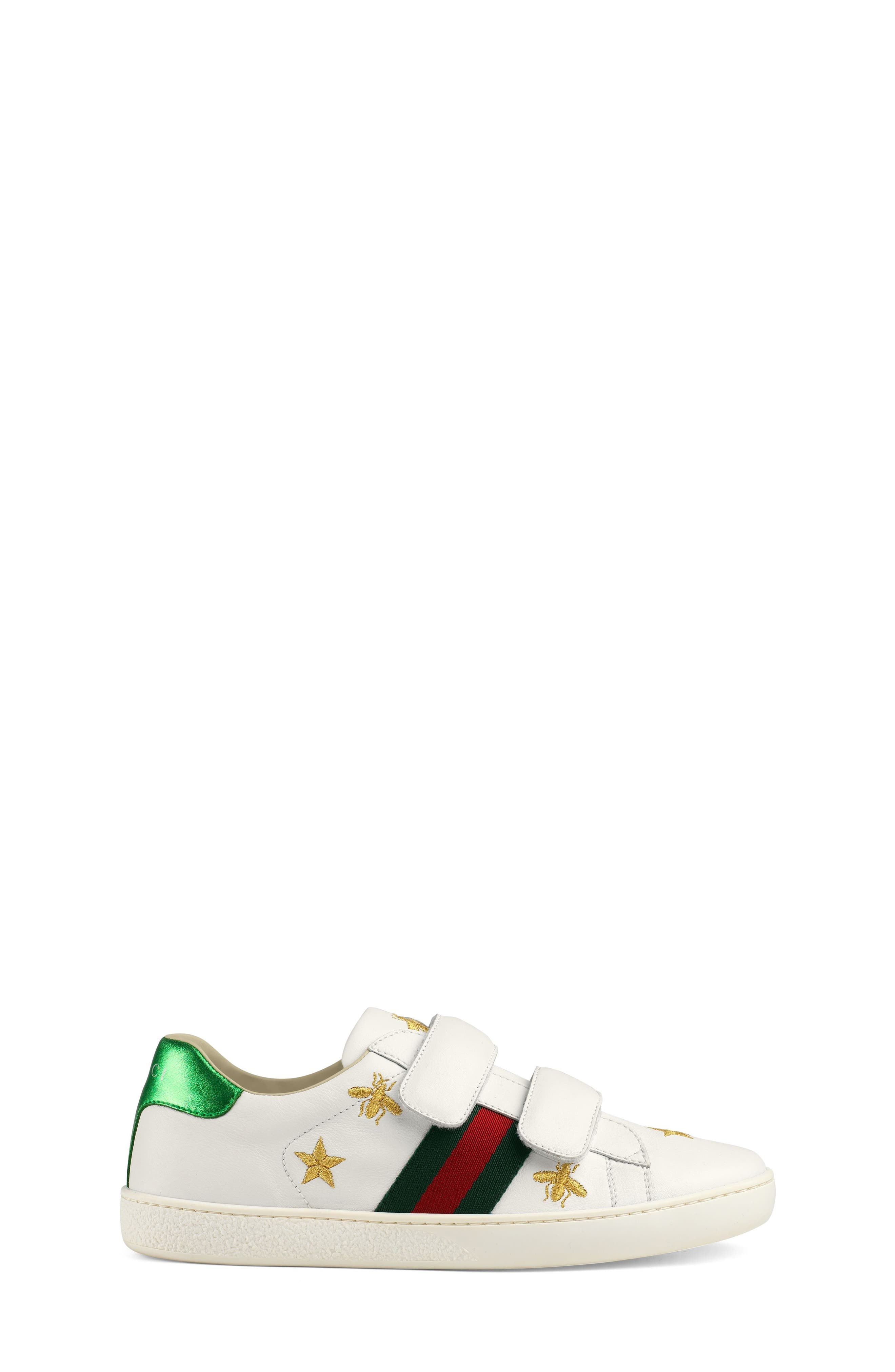 New Ace Embroidered Sneaker,                             Alternate thumbnail 3, color,                             WHITE STAR