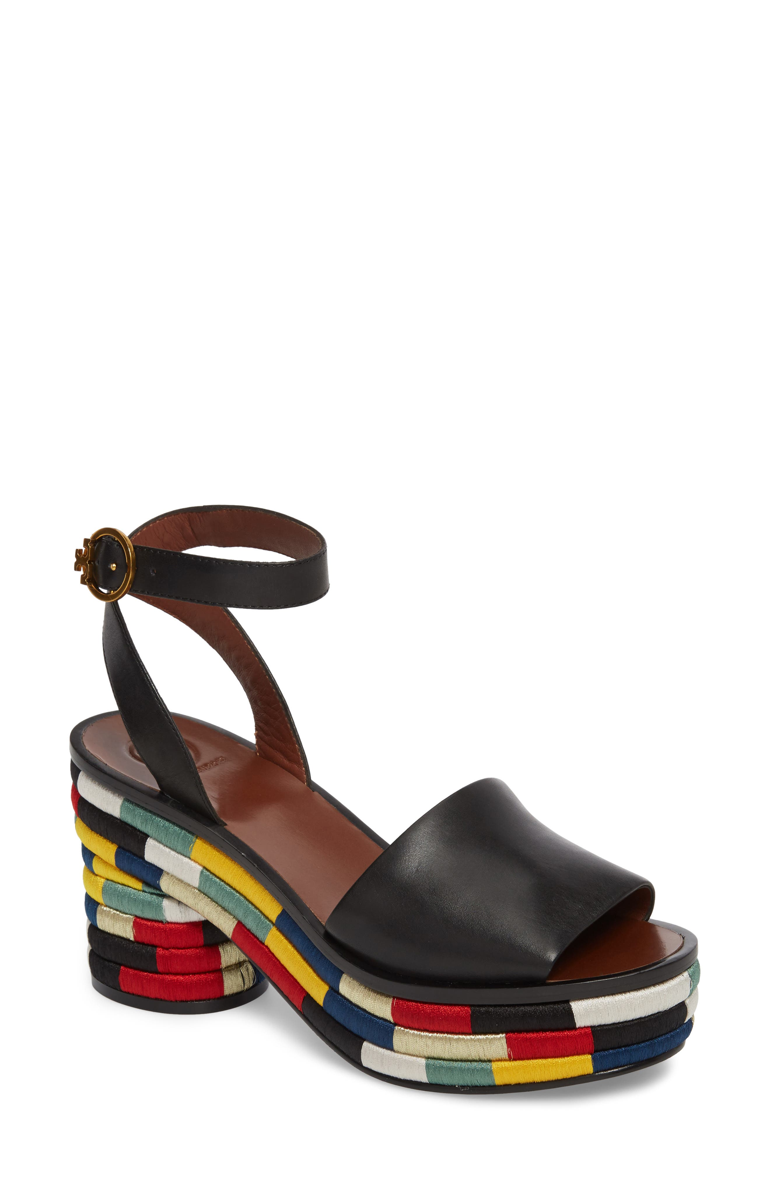 Camilla Embroidered Platform Sandal,                             Main thumbnail 1, color,