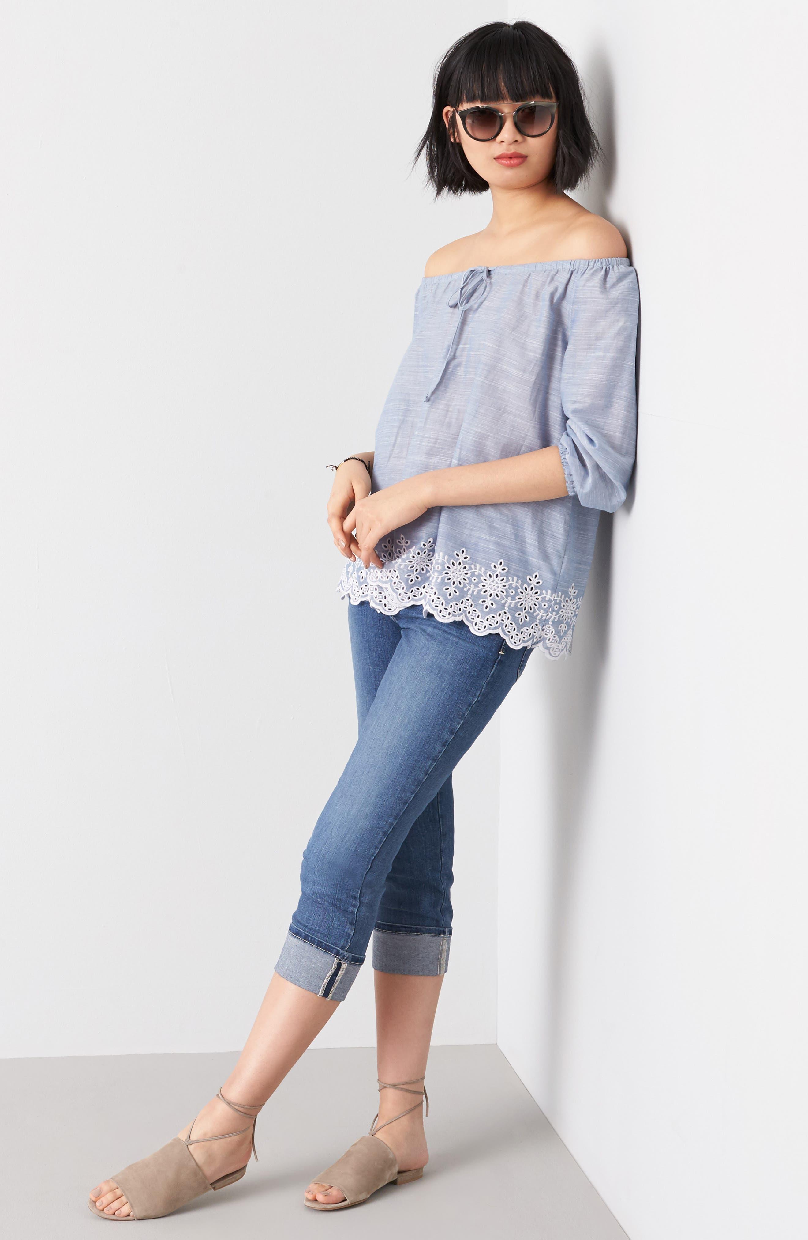 'Dayla' Colored Wide Cuff Capri Jeans,                             Alternate thumbnail 22, color,