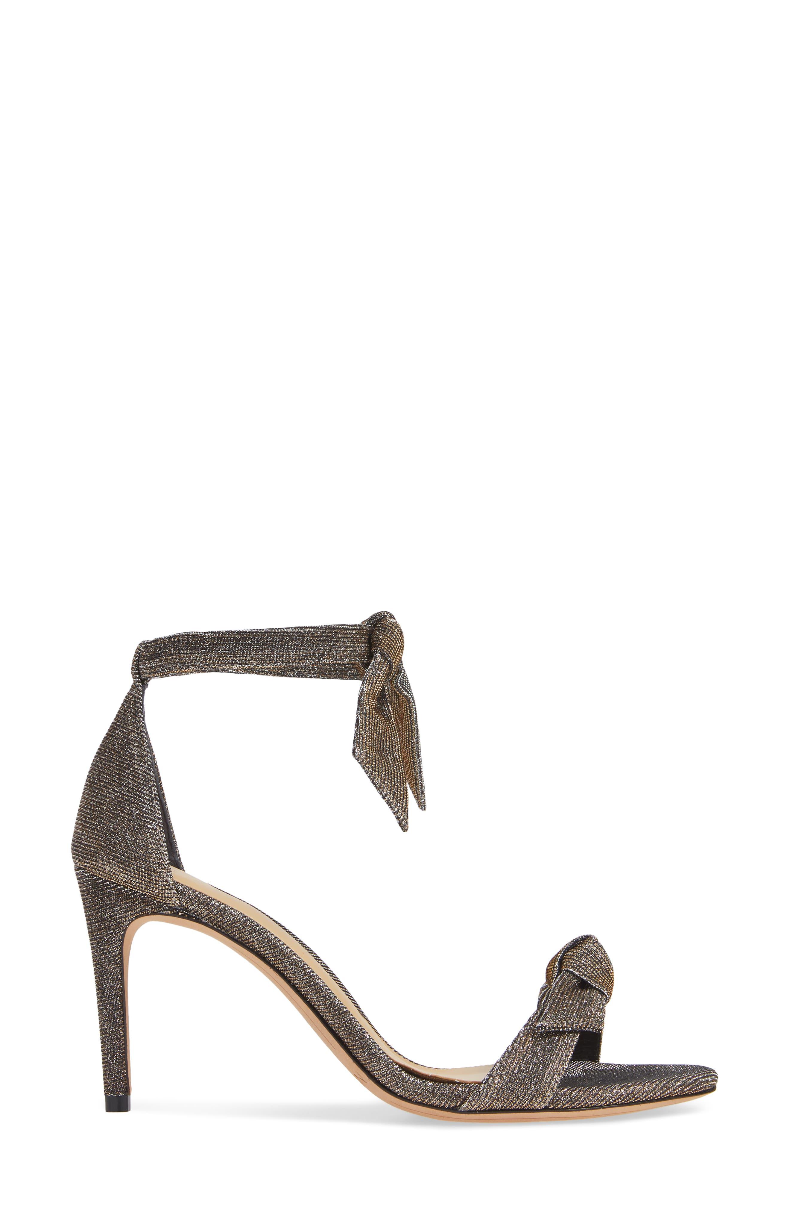 Clarita Ankle Strap Sandal,                             Alternate thumbnail 3, color,                             SILVER