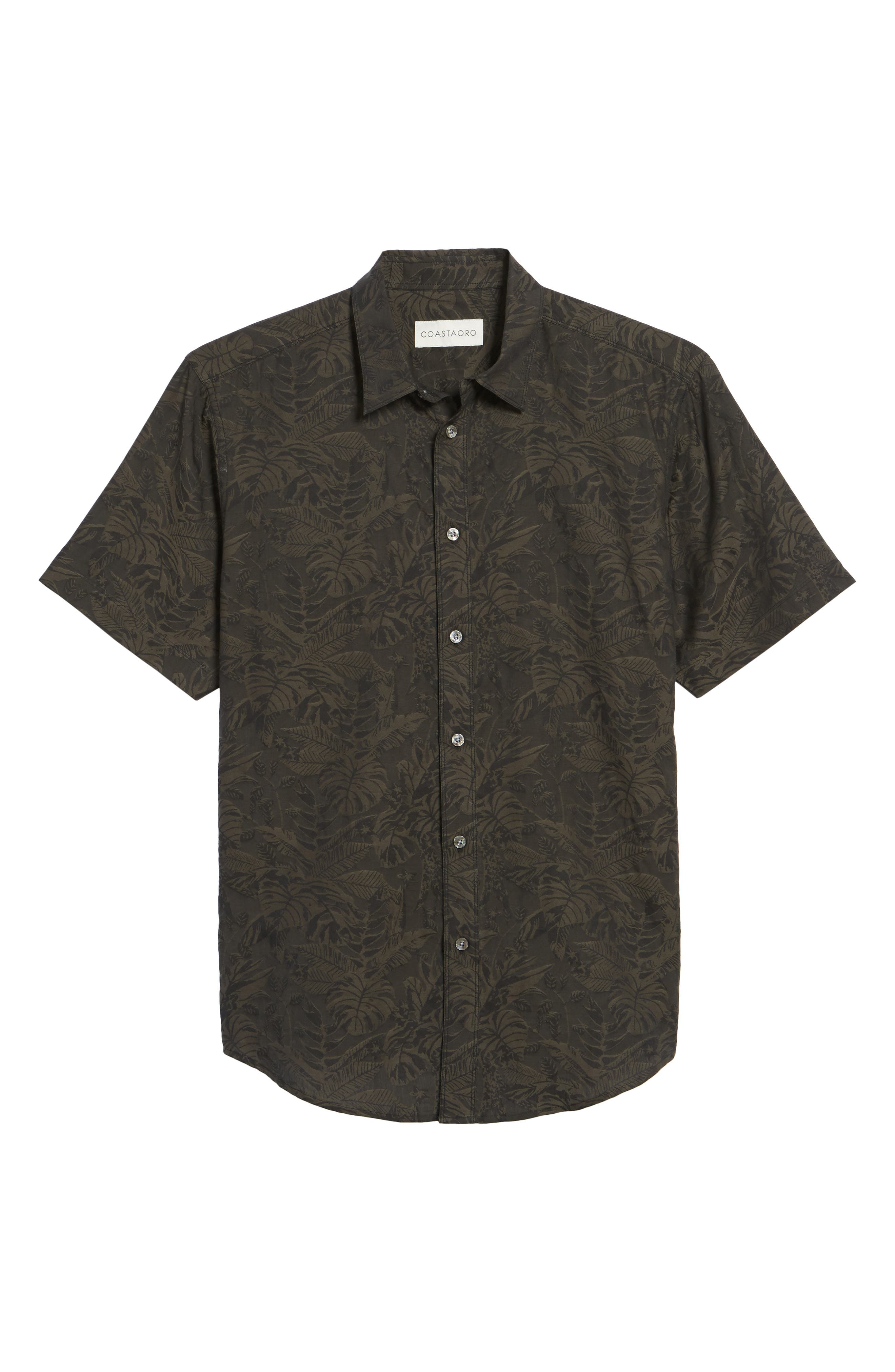 Princeville Regular Fit Print Short Sleeve Sport Shirt,                             Alternate thumbnail 6, color,                             011