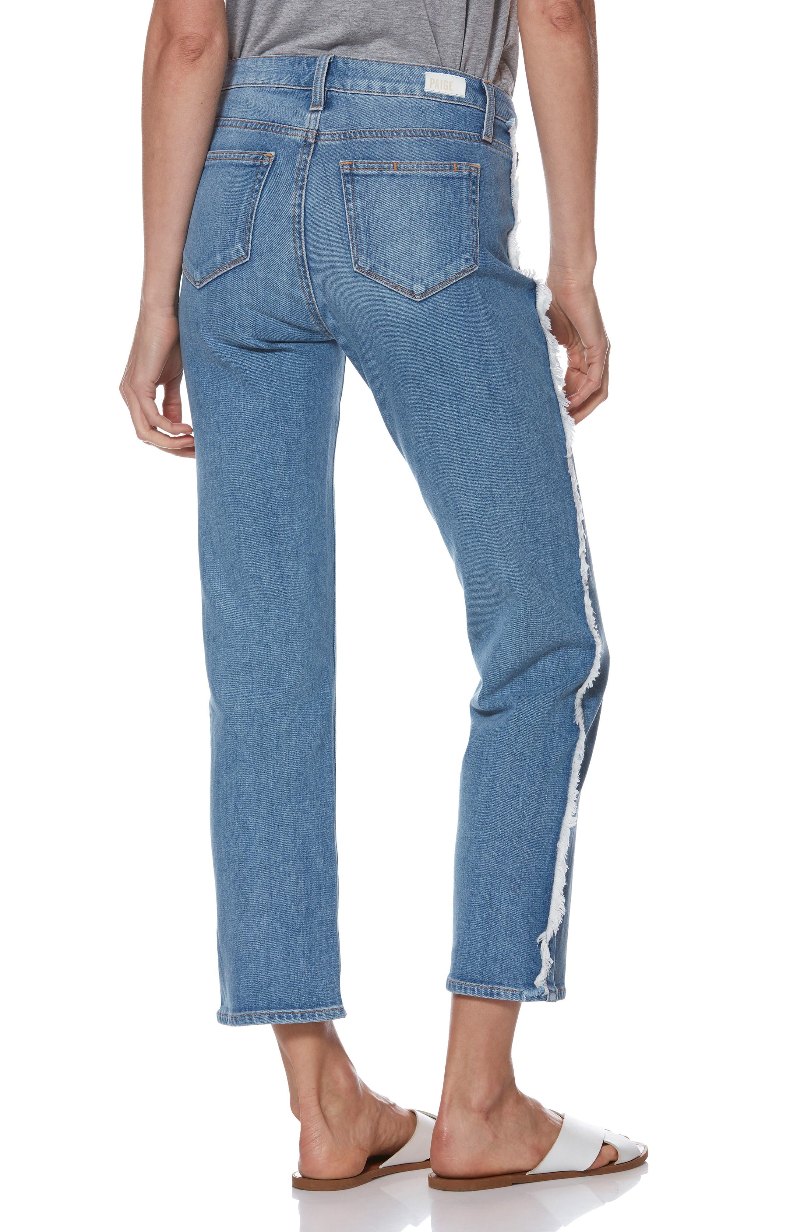 Noella Frayed Side Seam Ankle Jeans,                             Alternate thumbnail 2, color,                             BIELLA