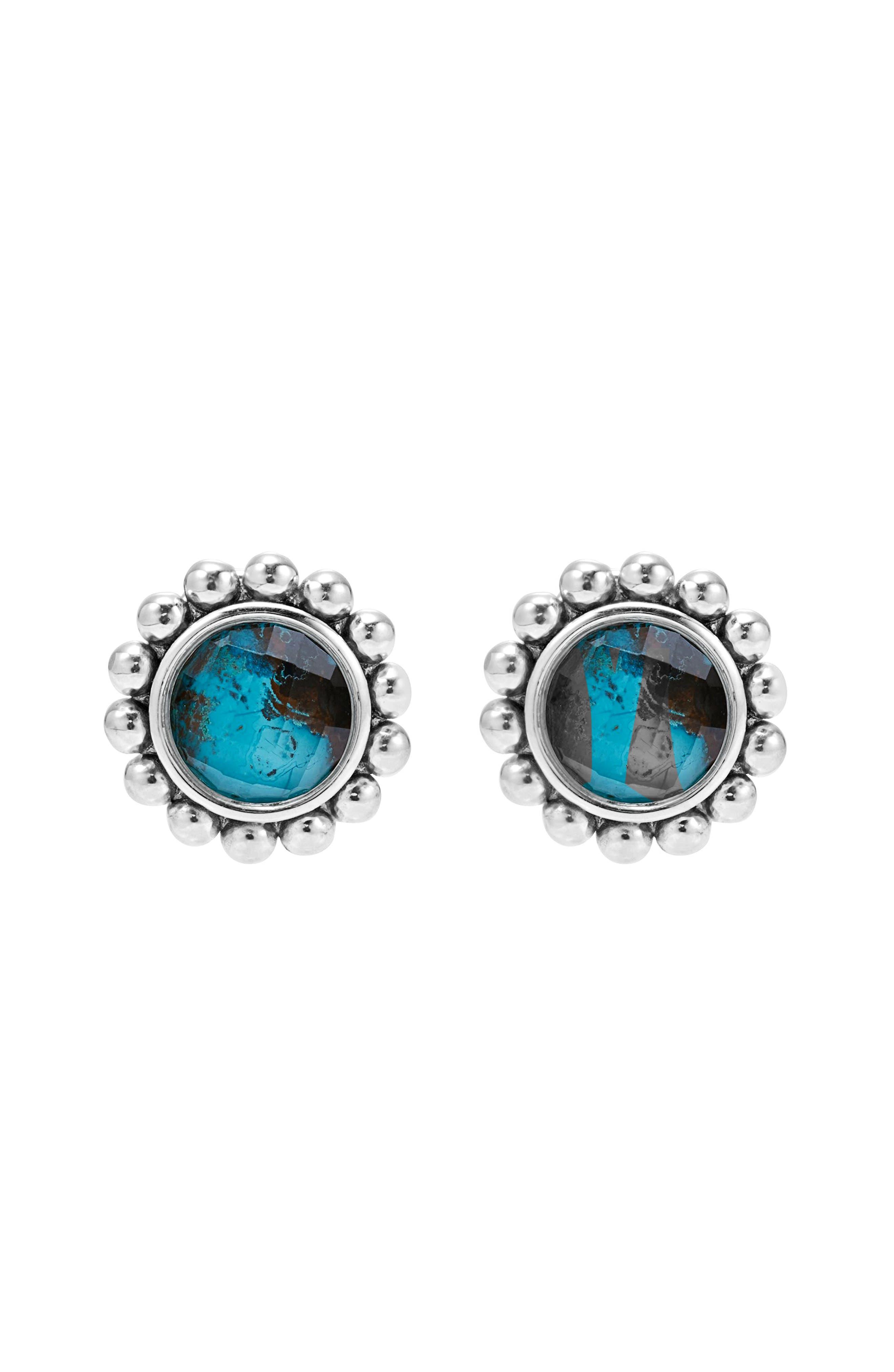 Maya Semiprecious Stone Stud Earrings,                             Alternate thumbnail 2, color,                             040