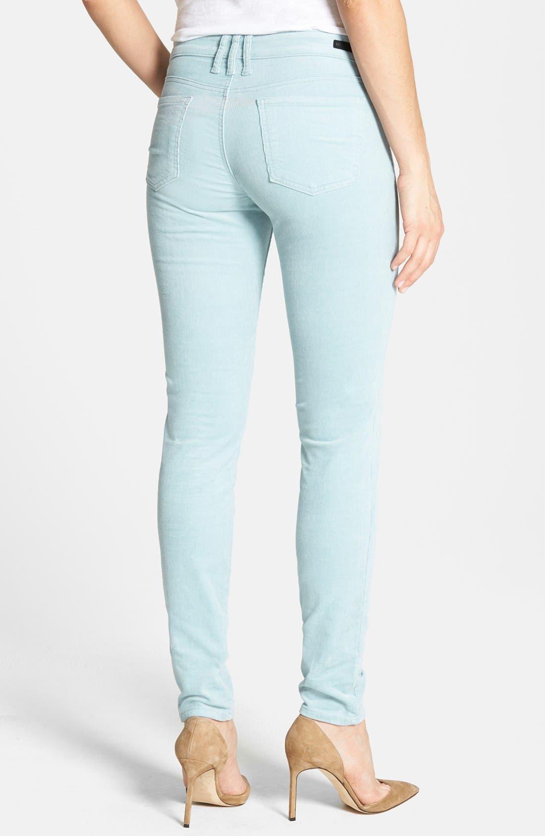 'Diana' Stretch Corduroy Skinny Pants,                             Alternate thumbnail 236, color,
