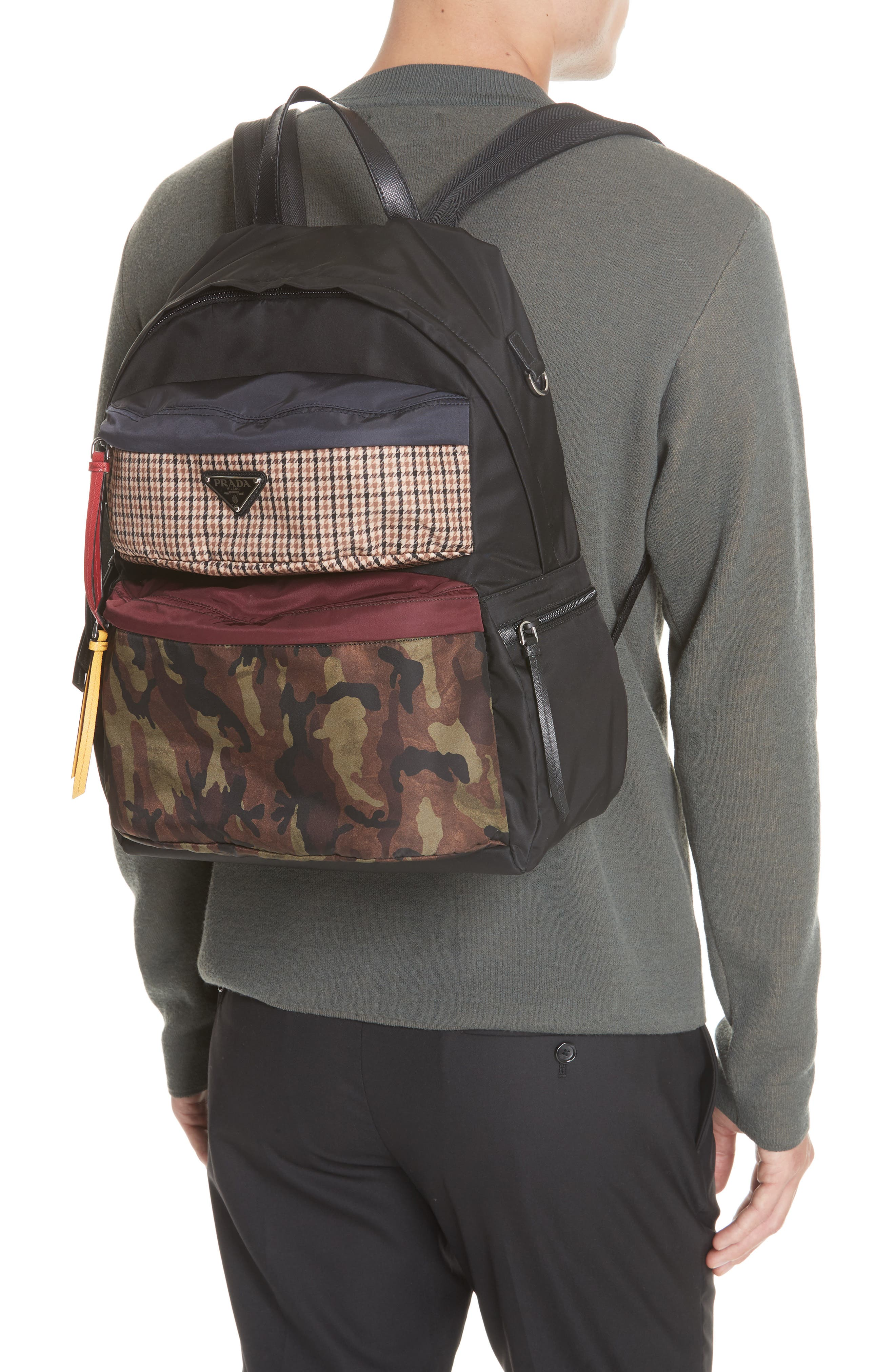 Tessuto Camo Patch Nylon Backpack,                             Alternate thumbnail 2, color,                             CAMO