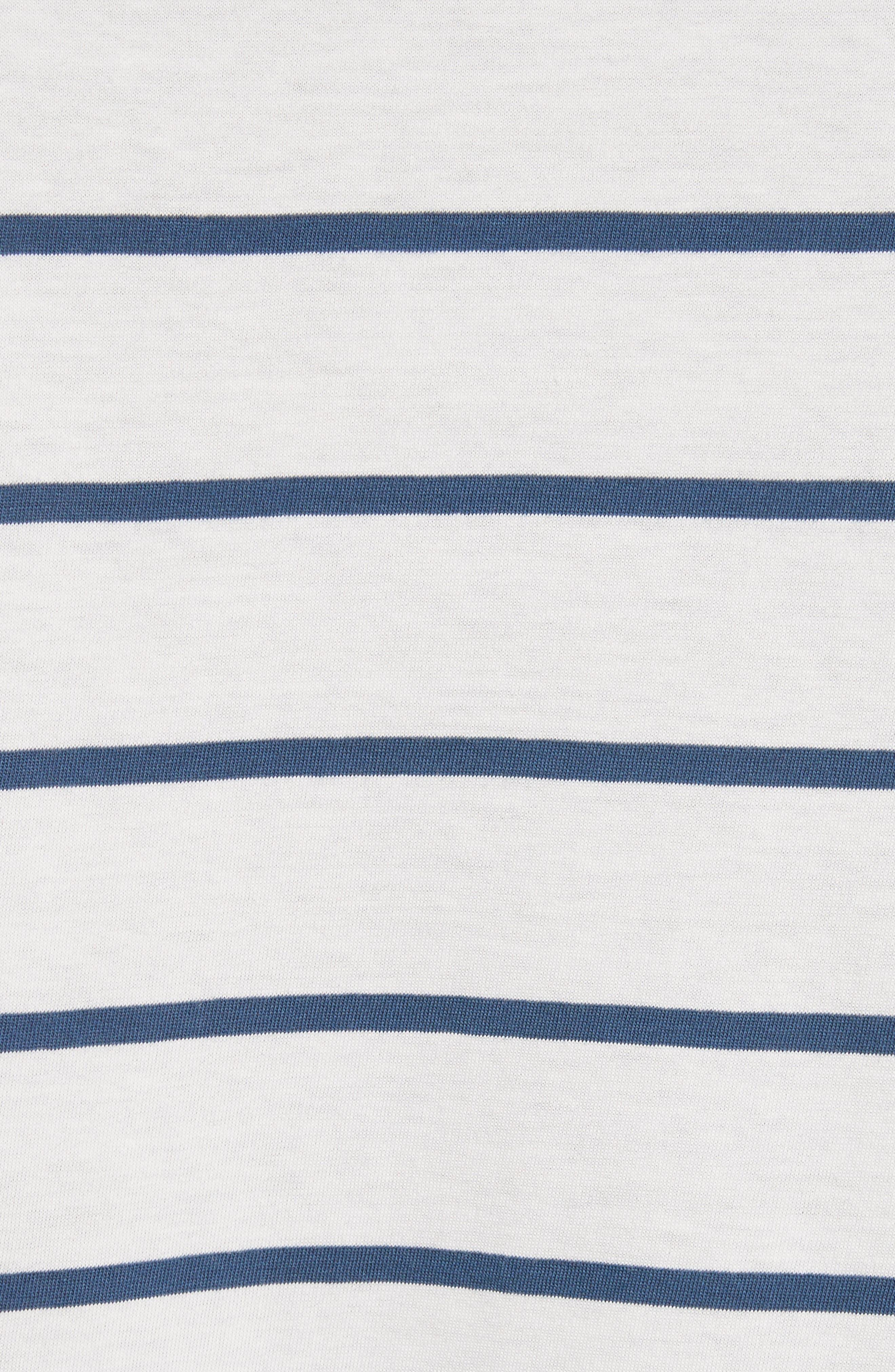 Mixed Stripe Pocket T-Shirt,                             Alternate thumbnail 5, color,                             435