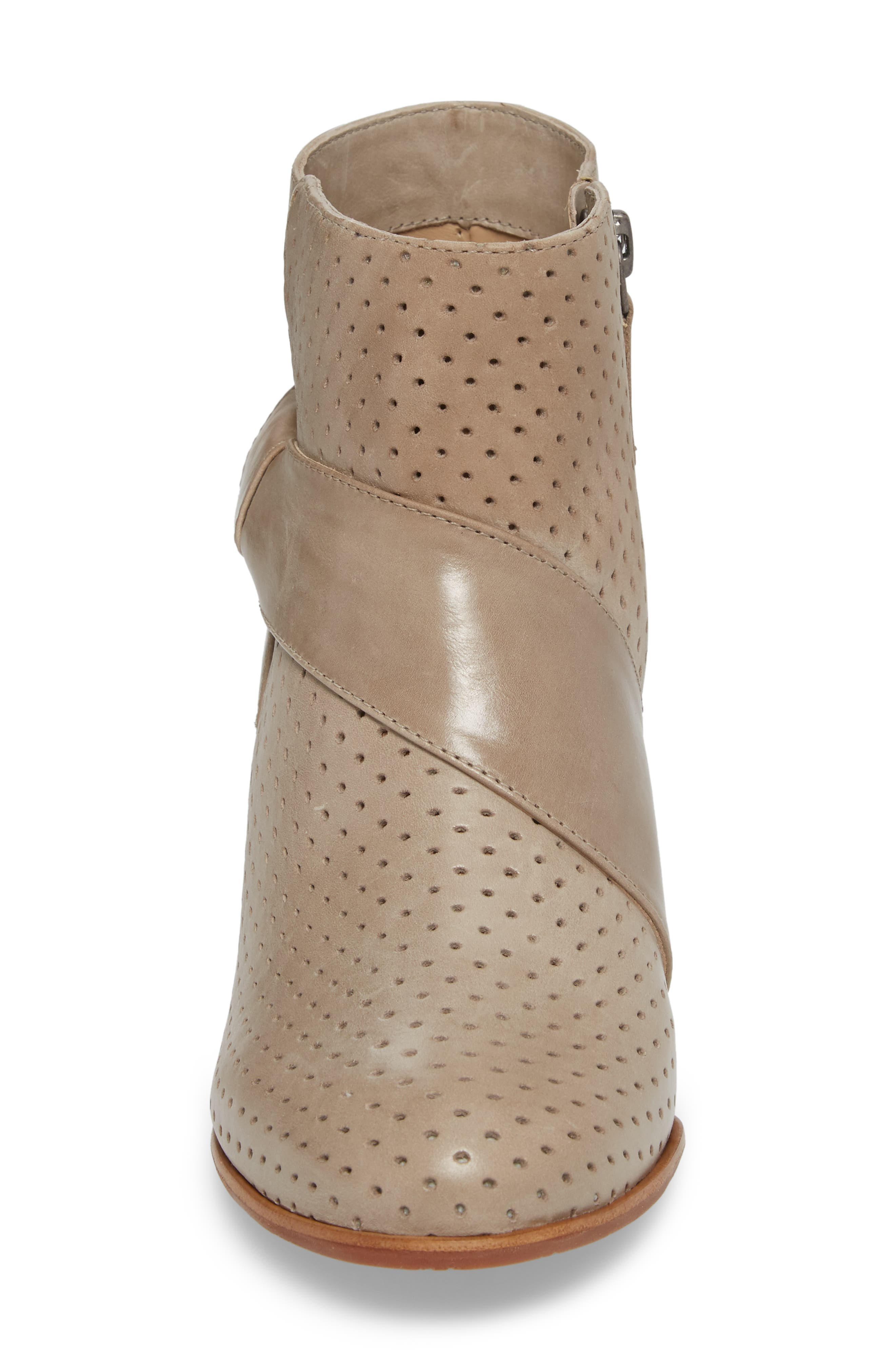 Felice Bootie,                             Alternate thumbnail 4, color,                             GREY LEATHER