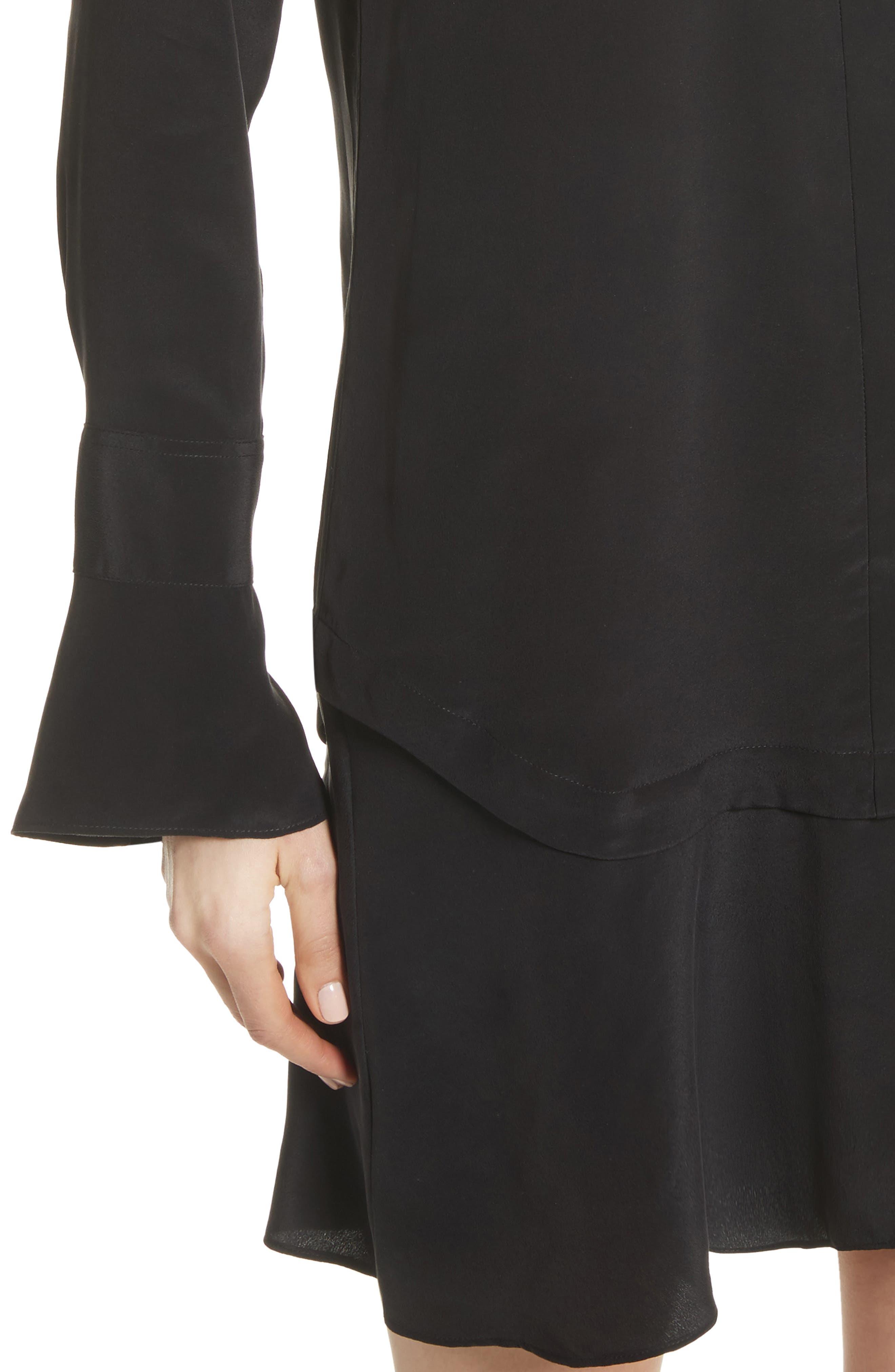 Daphne Silk Shirtdress,                             Alternate thumbnail 4, color,                             003
