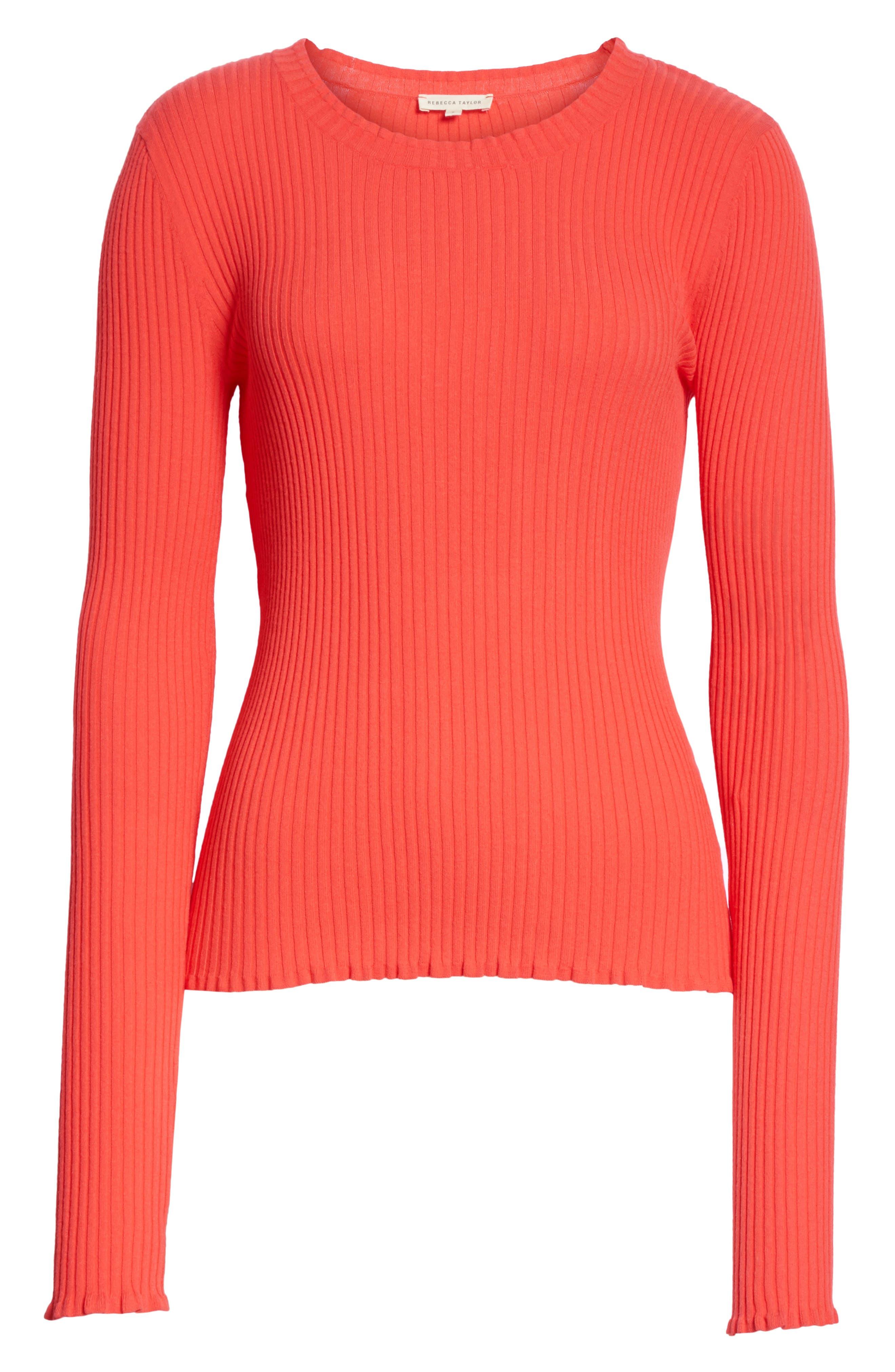 Rib Knit Scoop Neck Sweater,                             Alternate thumbnail 12, color,