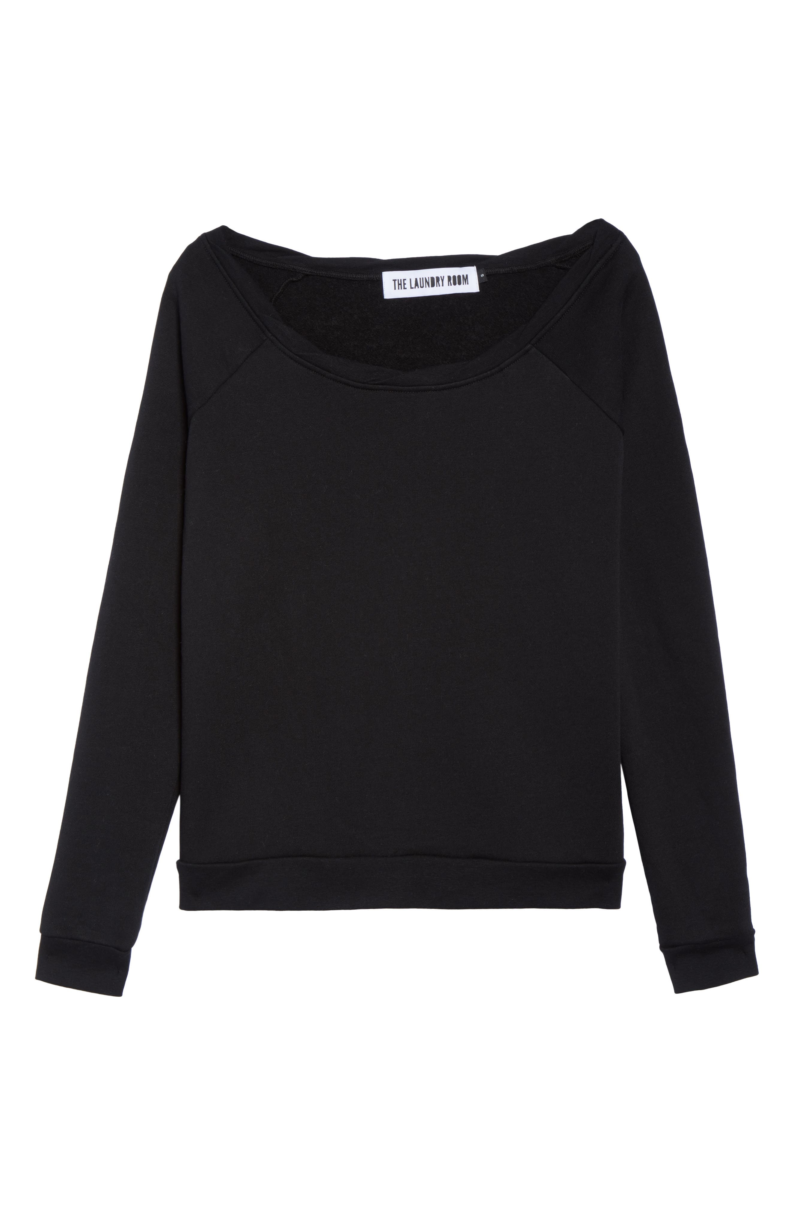 Cozy Lounge Sweatshirt,                             Alternate thumbnail 6, color,                             001