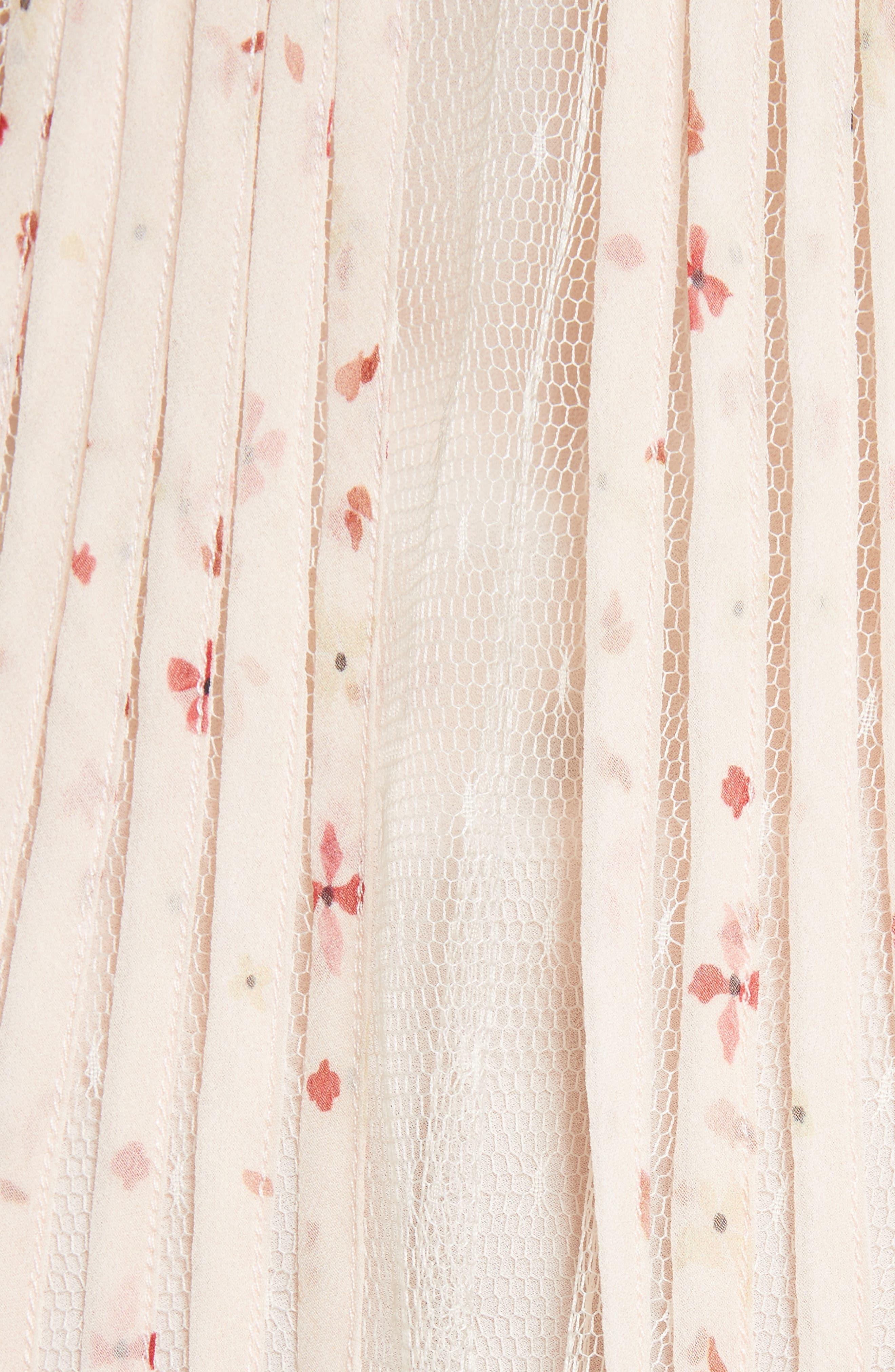 Point dEsprit Ruffle Trim Dress,                             Alternate thumbnail 5, color,                             900