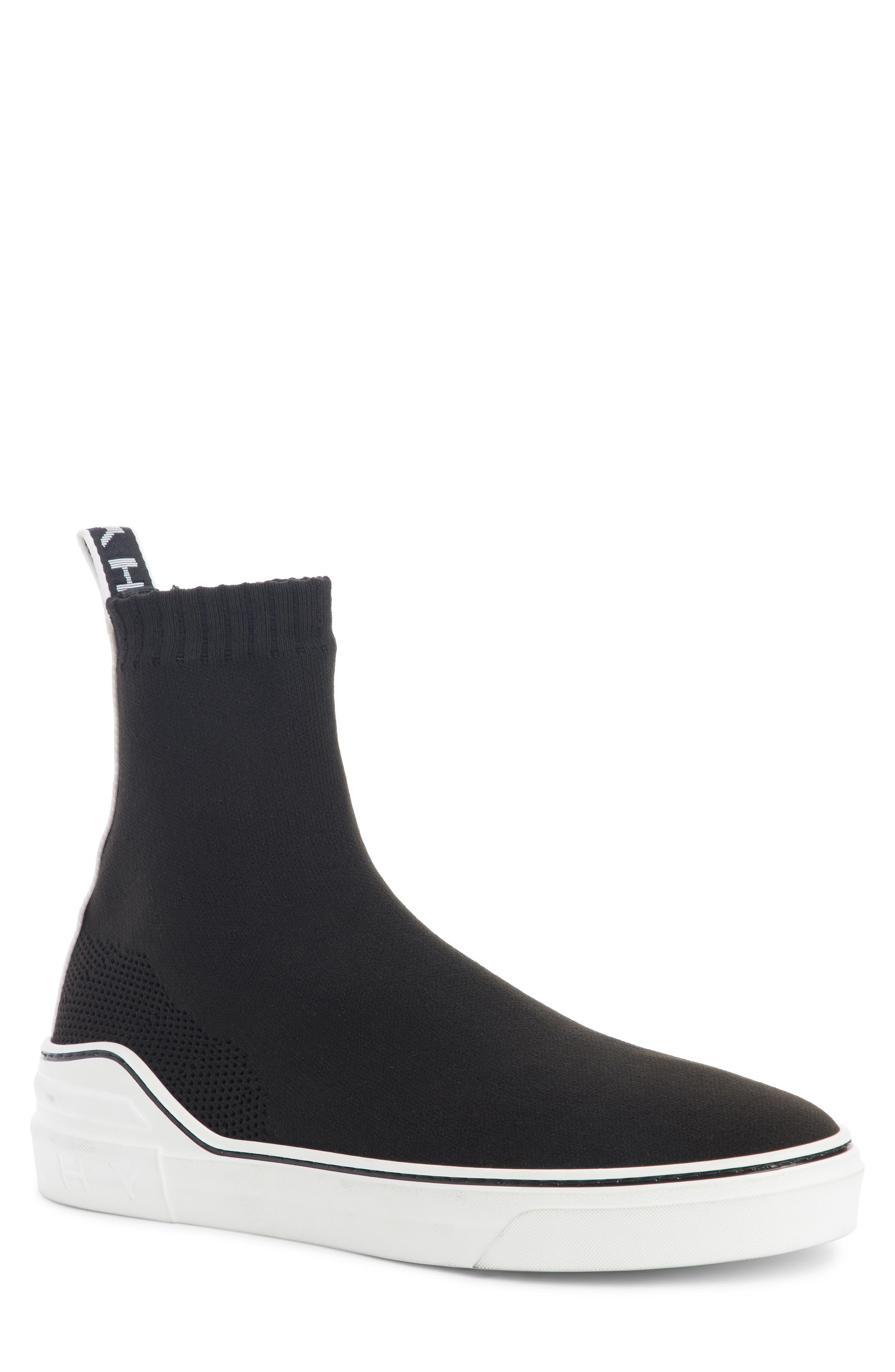 George V Hi Sock Sneaker,                             Main thumbnail 1, color,                             001
