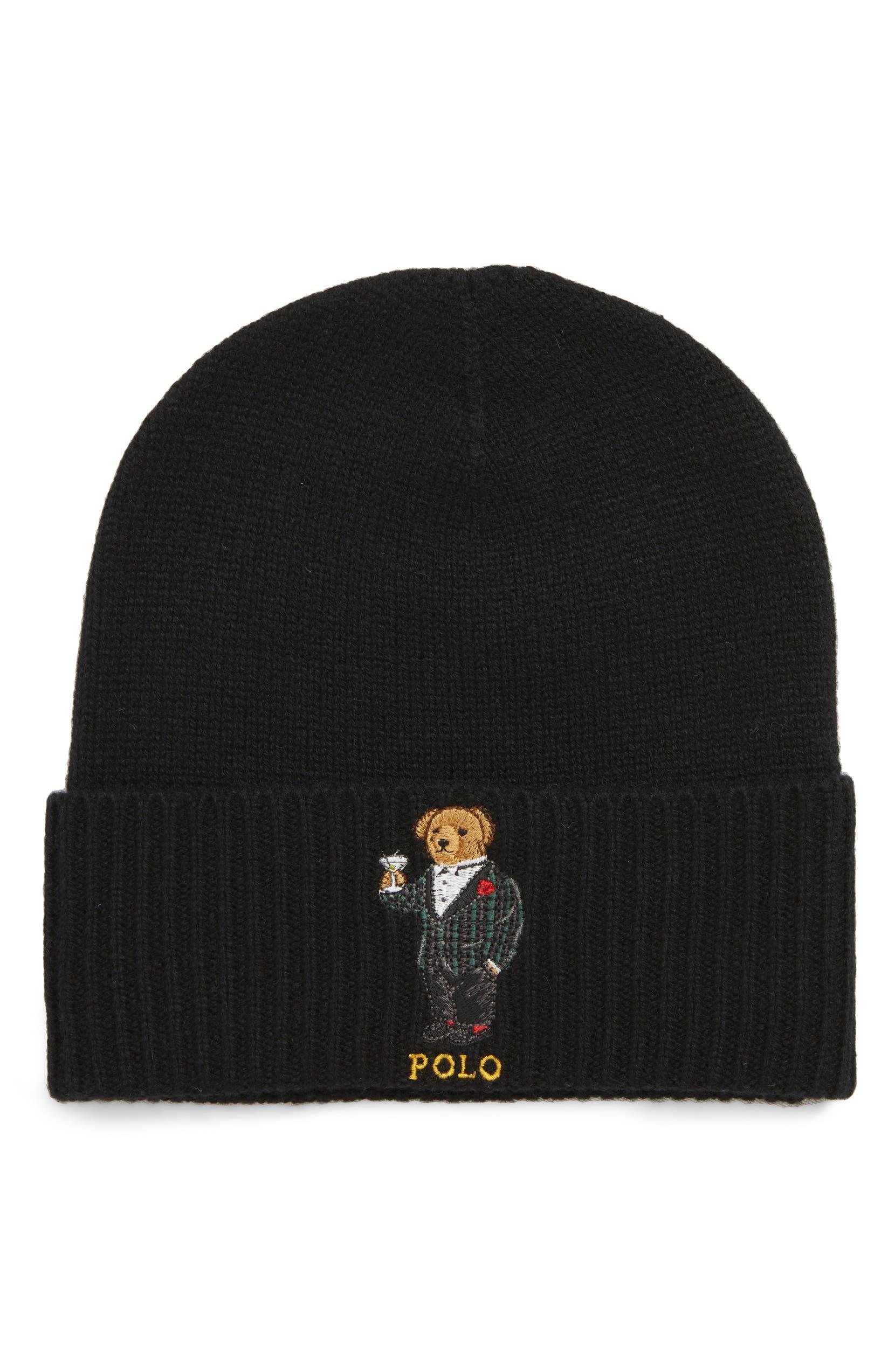 Polo Ralph Lauren Tartan Martini Bear Wool   Cashmere Beanie  88d5afd6cb76
