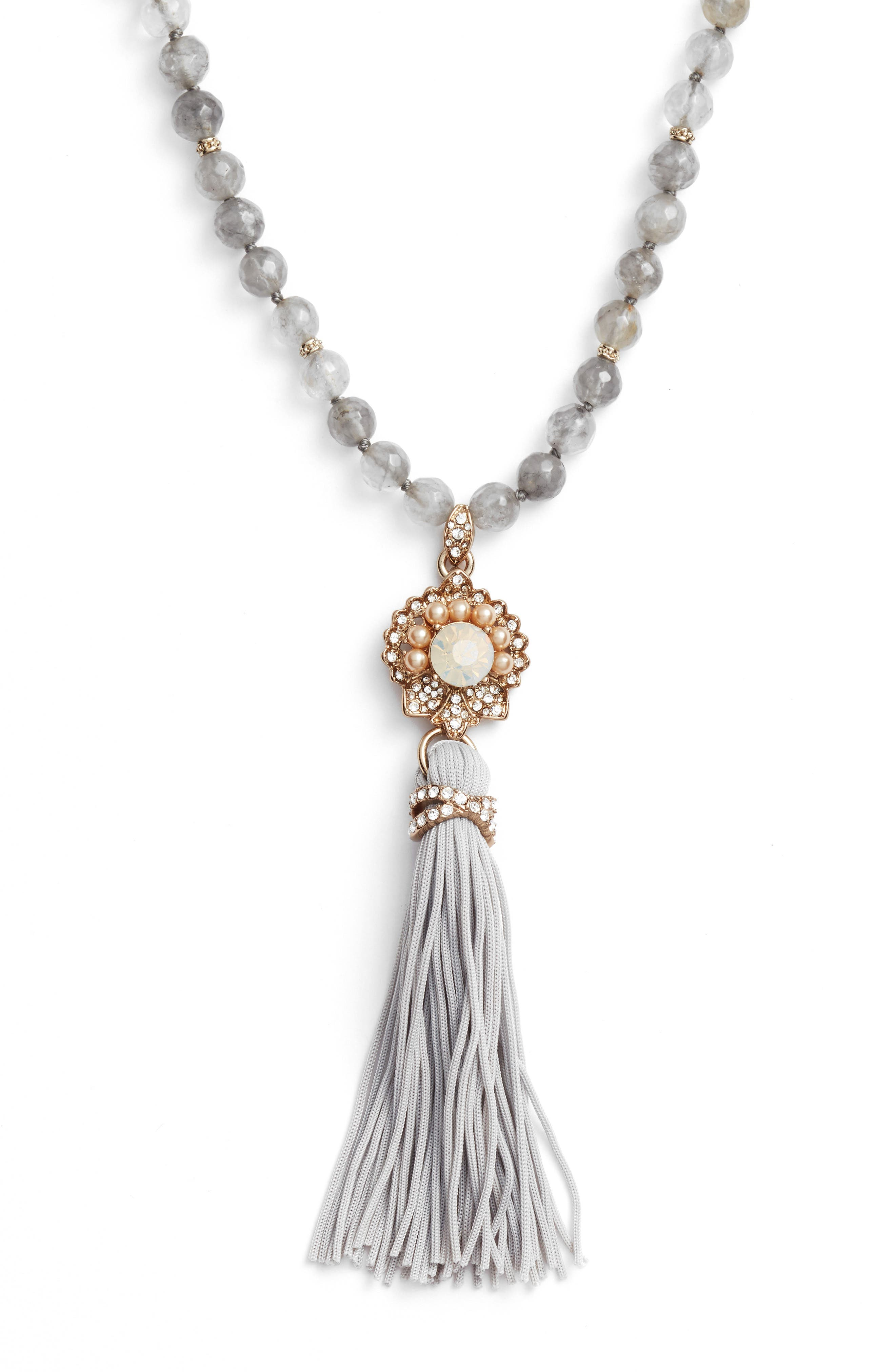 Tassel Pendant Necklace,                             Alternate thumbnail 2, color,                             020