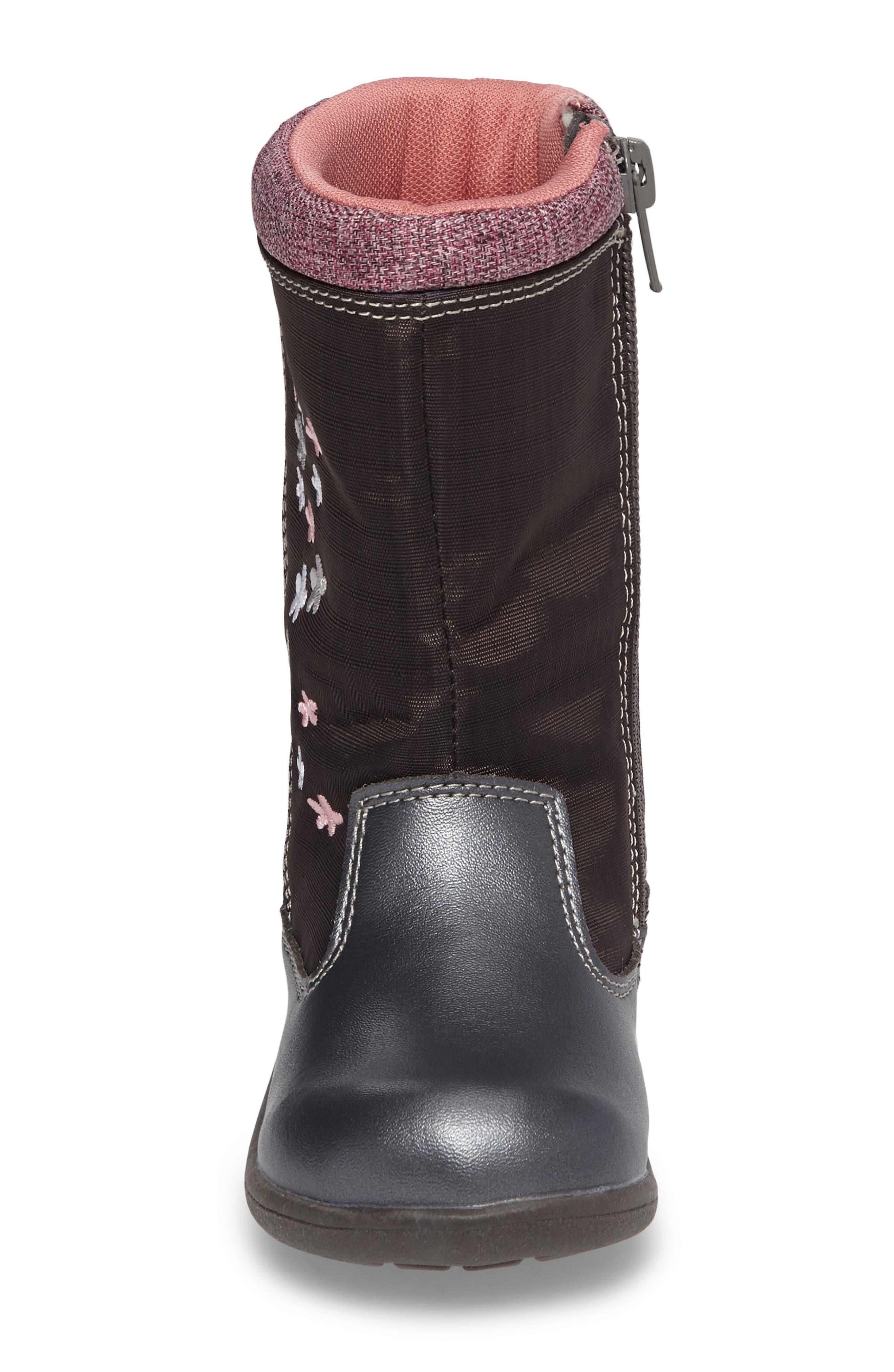 'Hallie' Waterproof Boot,                             Alternate thumbnail 4, color,                             021