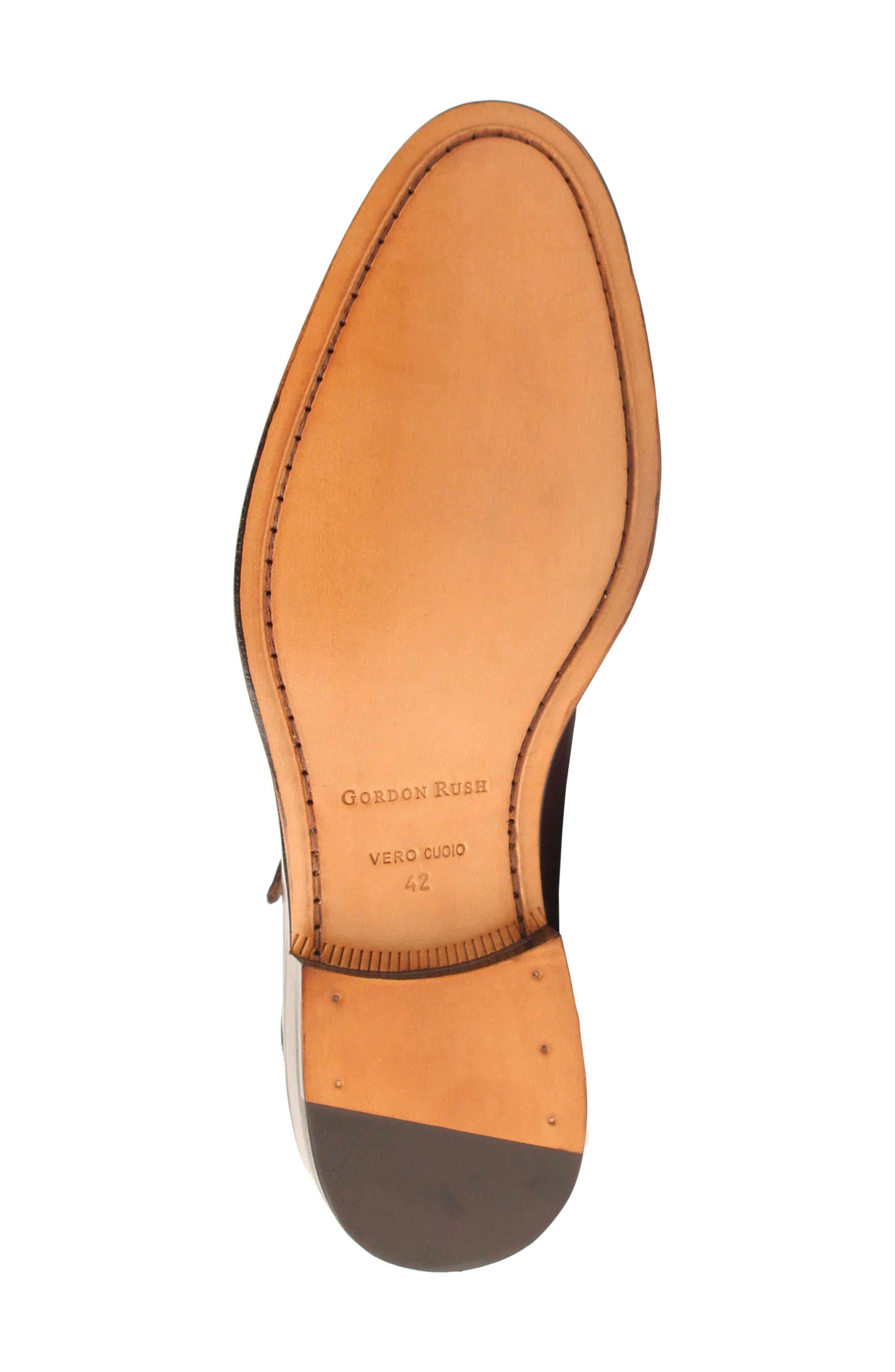 Jay Double Monk Strap Shoe,                             Alternate thumbnail 6, color,                             BLACK LEATHER