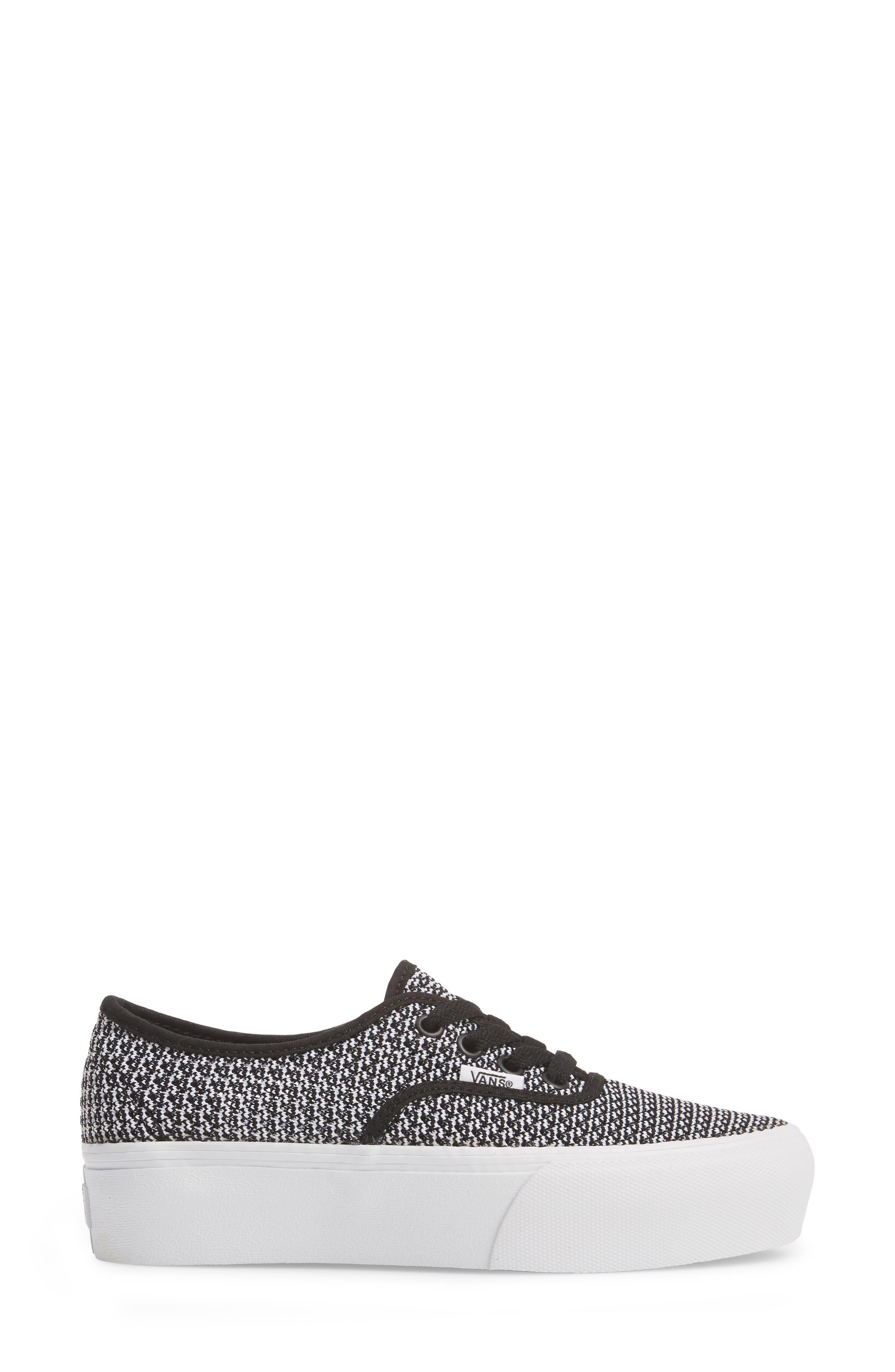 VANS,                             'Authentic' Platform Sneaker,                             Alternate thumbnail 3, color,                             004