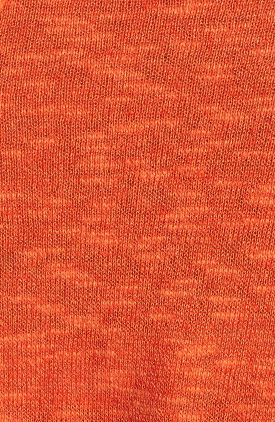 Cap Sleeve Organic Linen & Cotton Scoop Neck Top,                             Alternate thumbnail 37, color,