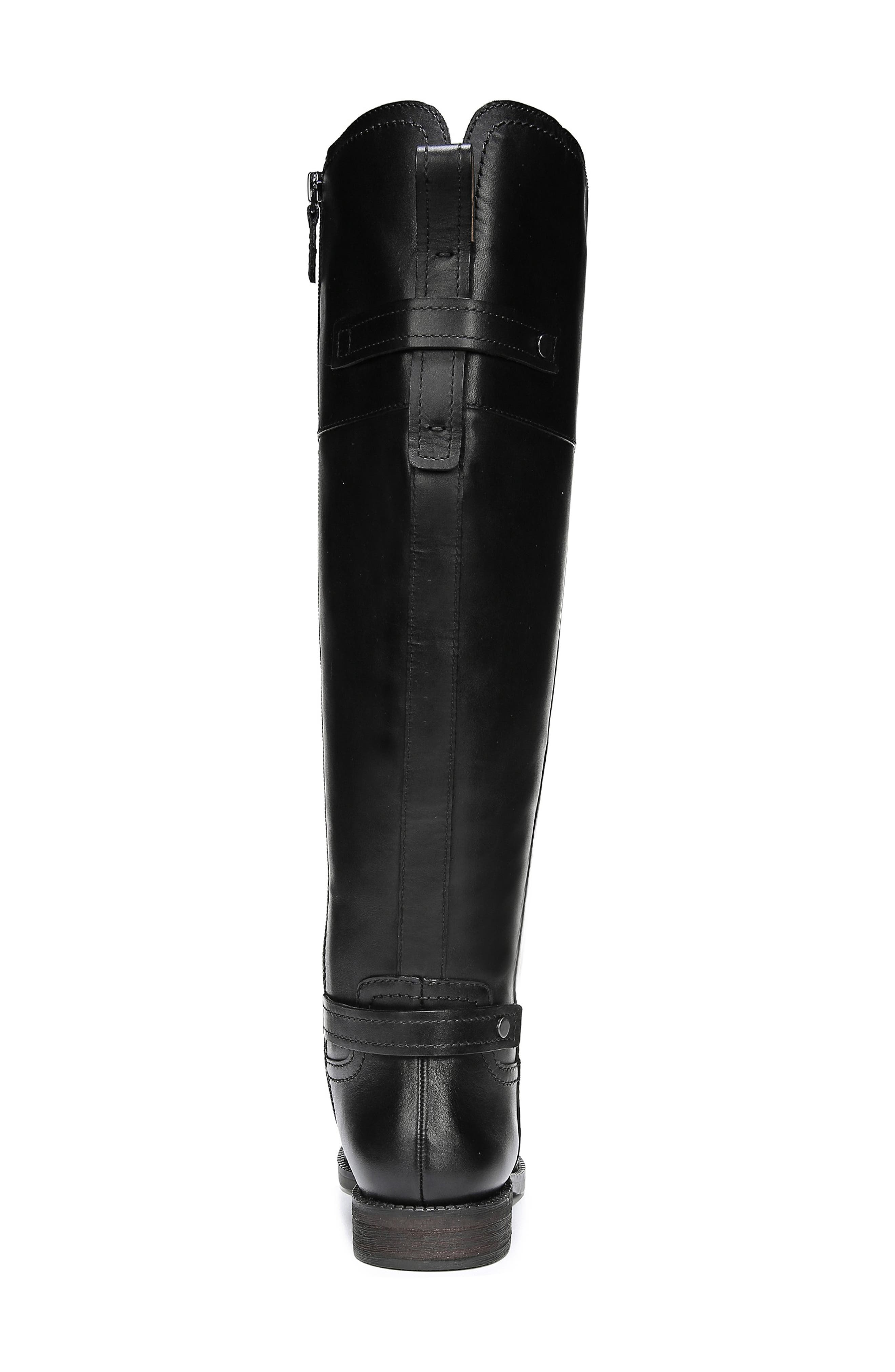 Capitol Riding Boot,                             Alternate thumbnail 8, color,                             BLACK LEATHER