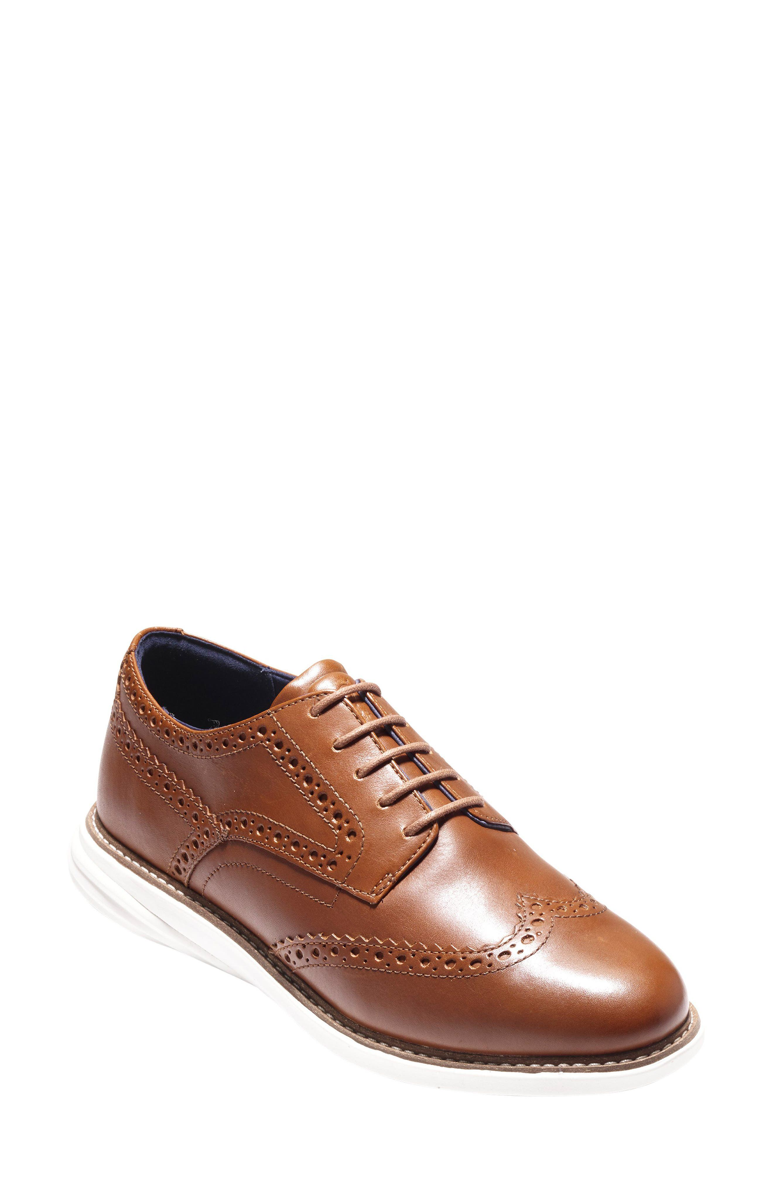 Grandevolution Shortwing Oxford Sneaker,                             Main thumbnail 1, color,                             WOODBURY LEATHER