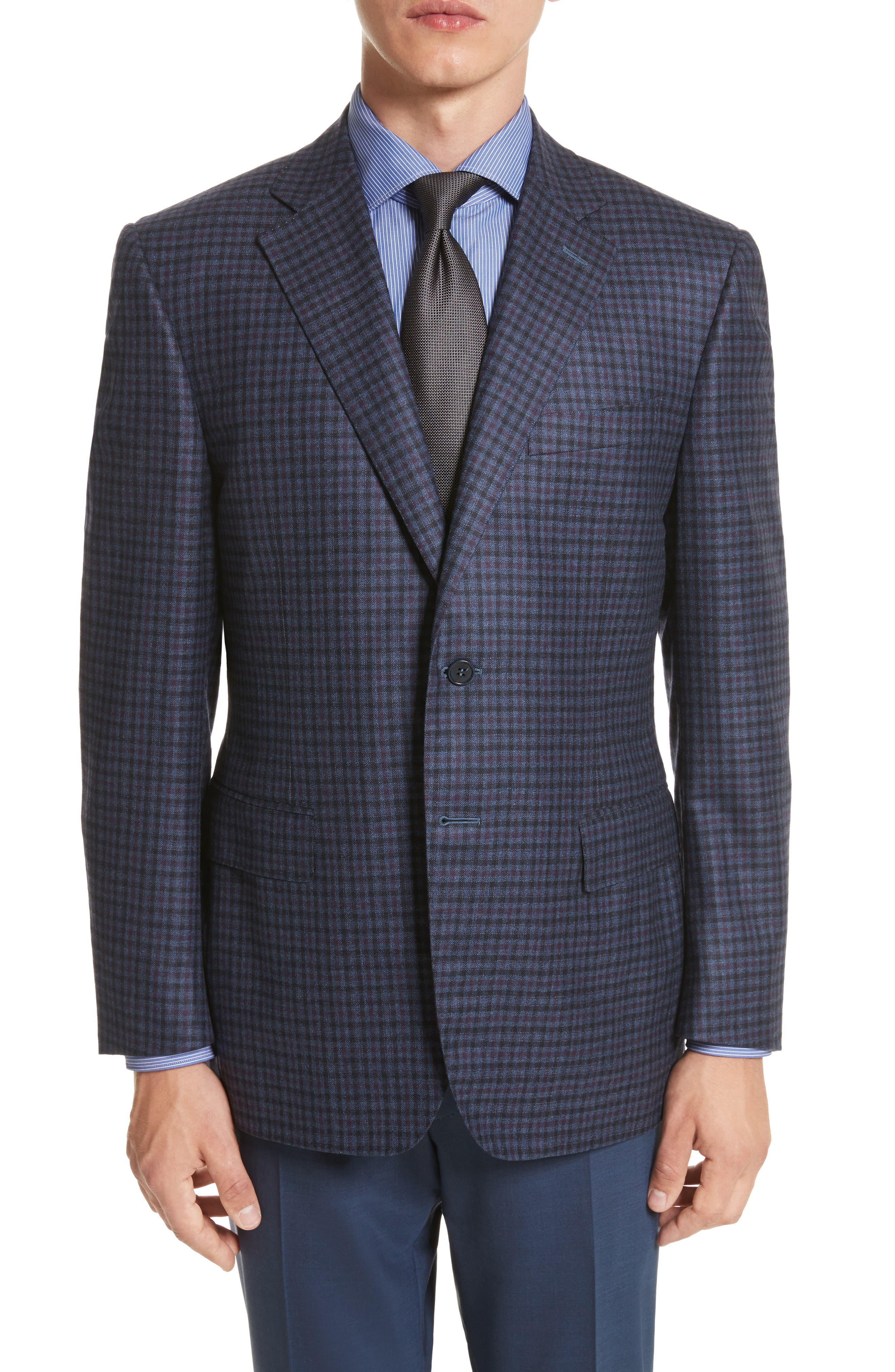 Classic Fit Check Wool Sport Coat,                         Main,                         color, 420