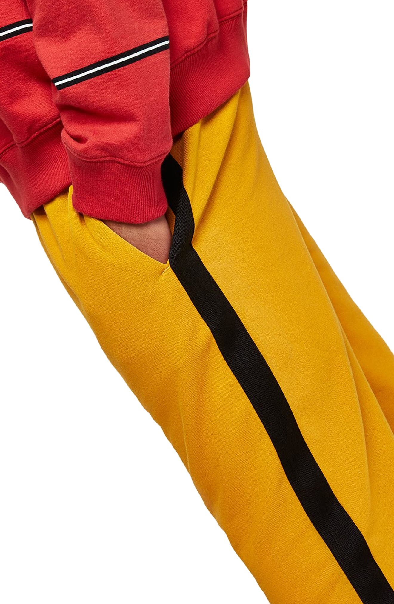 Classic Fit Side Tape Joggers,                             Alternate thumbnail 3, color,                             YELLOW MULTI