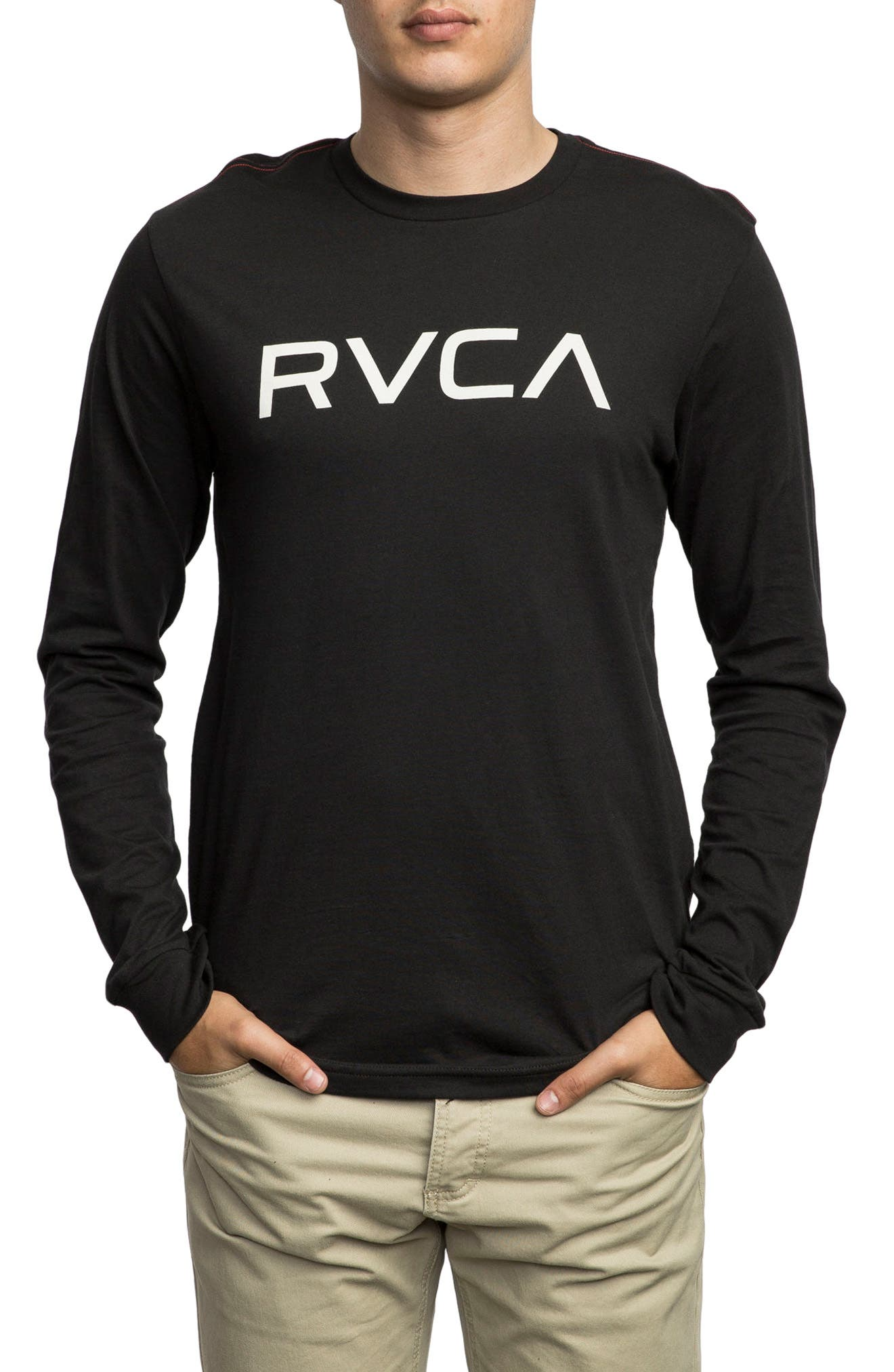 Big RVCA Graphic T-Shirt,                         Main,                         color, 001