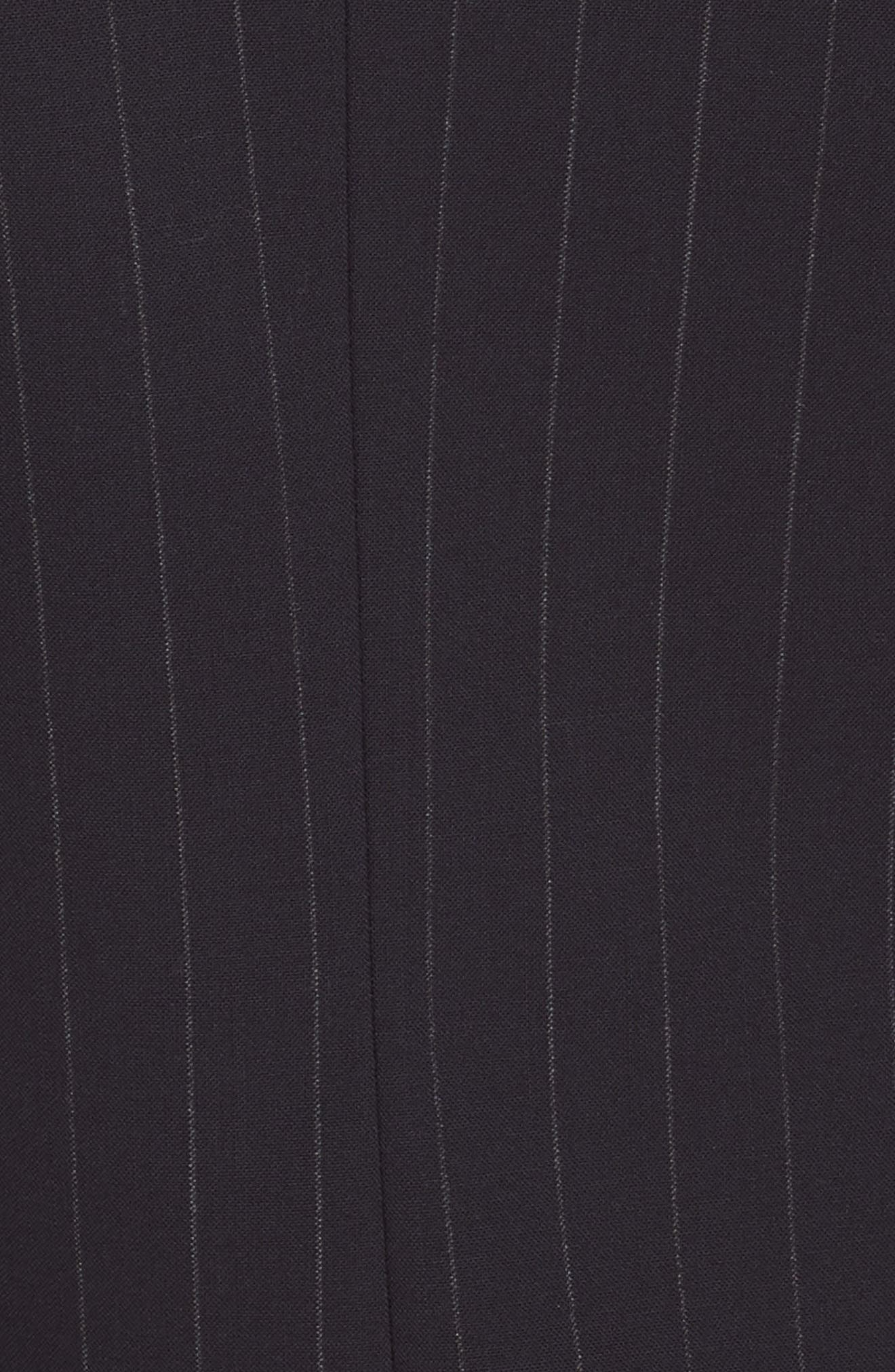 Pinstripe Blazer Dress,                             Alternate thumbnail 5, color,                             DEEP NAVY/ GREY