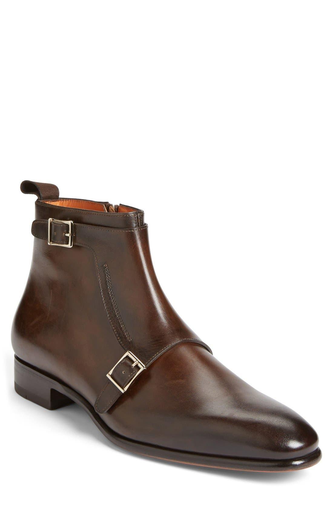 'Ciro' Double Monk Strap Boot,                         Main,                         color,
