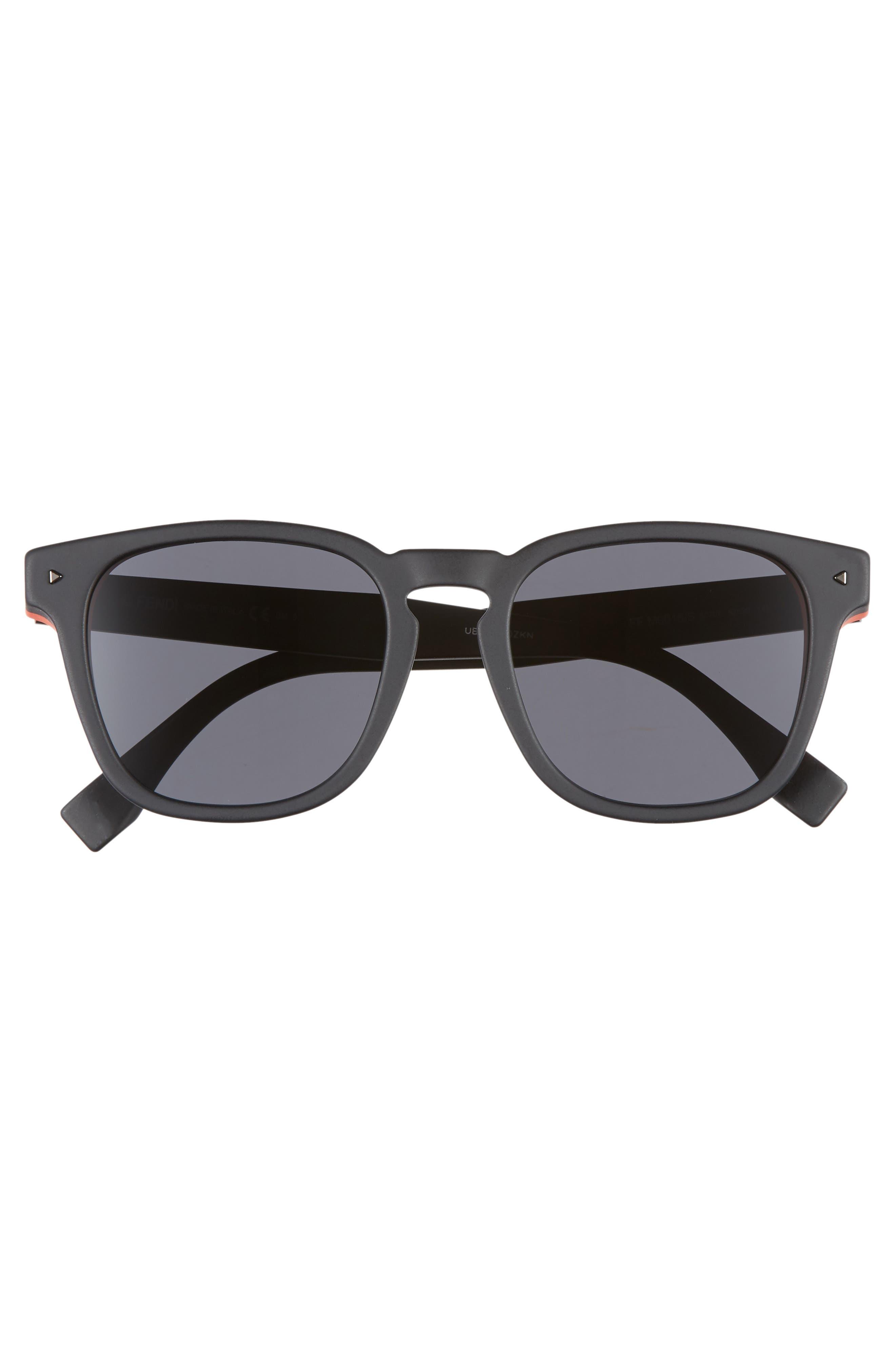 52mm Sunglasses,                             Alternate thumbnail 3, color,                             BLACK