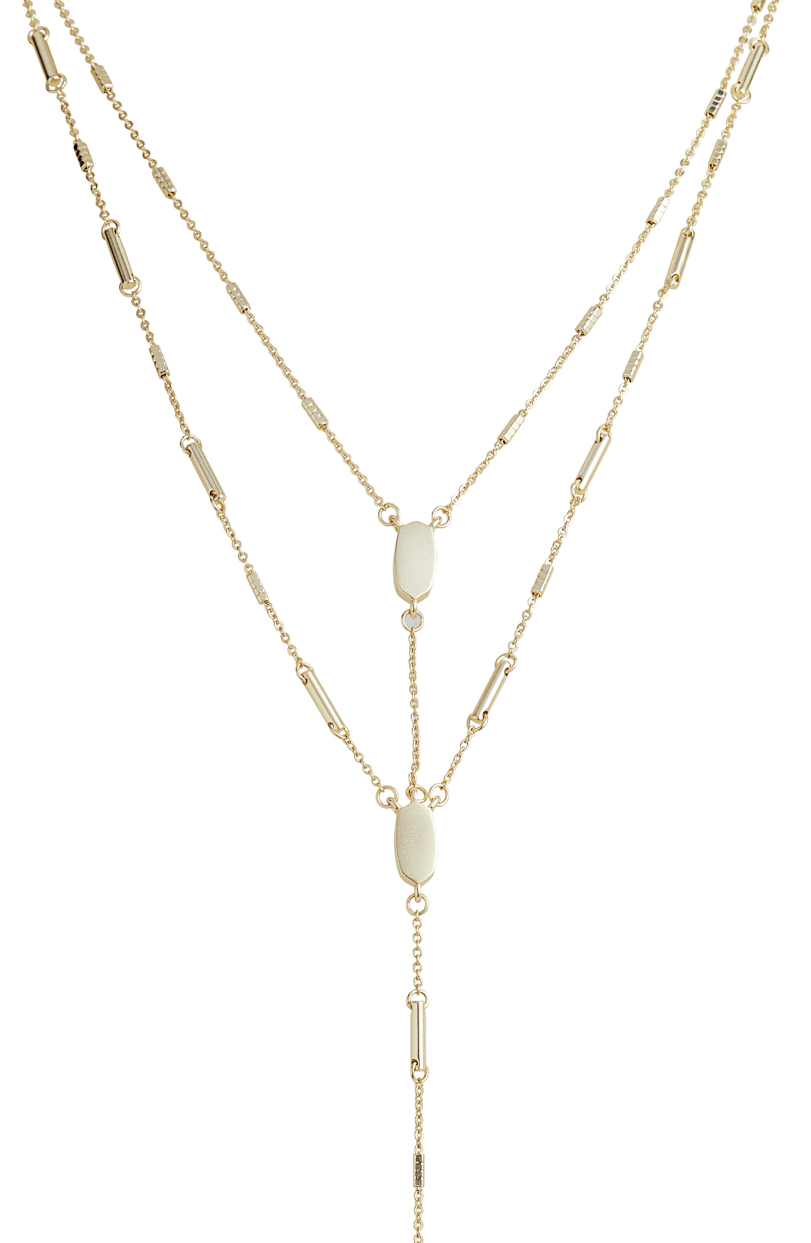 Adelia Multistrand Y-Necklace,                             Alternate thumbnail 2, color,                             GOLD