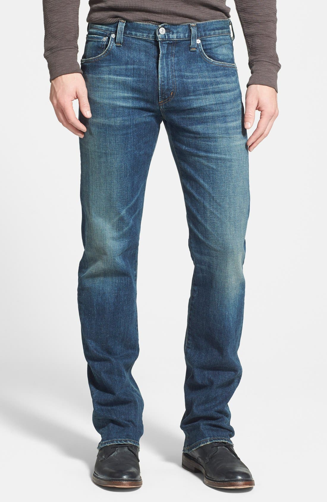 'Sid' Classic Straight Leg Jeans,                             Main thumbnail 1, color,                             429