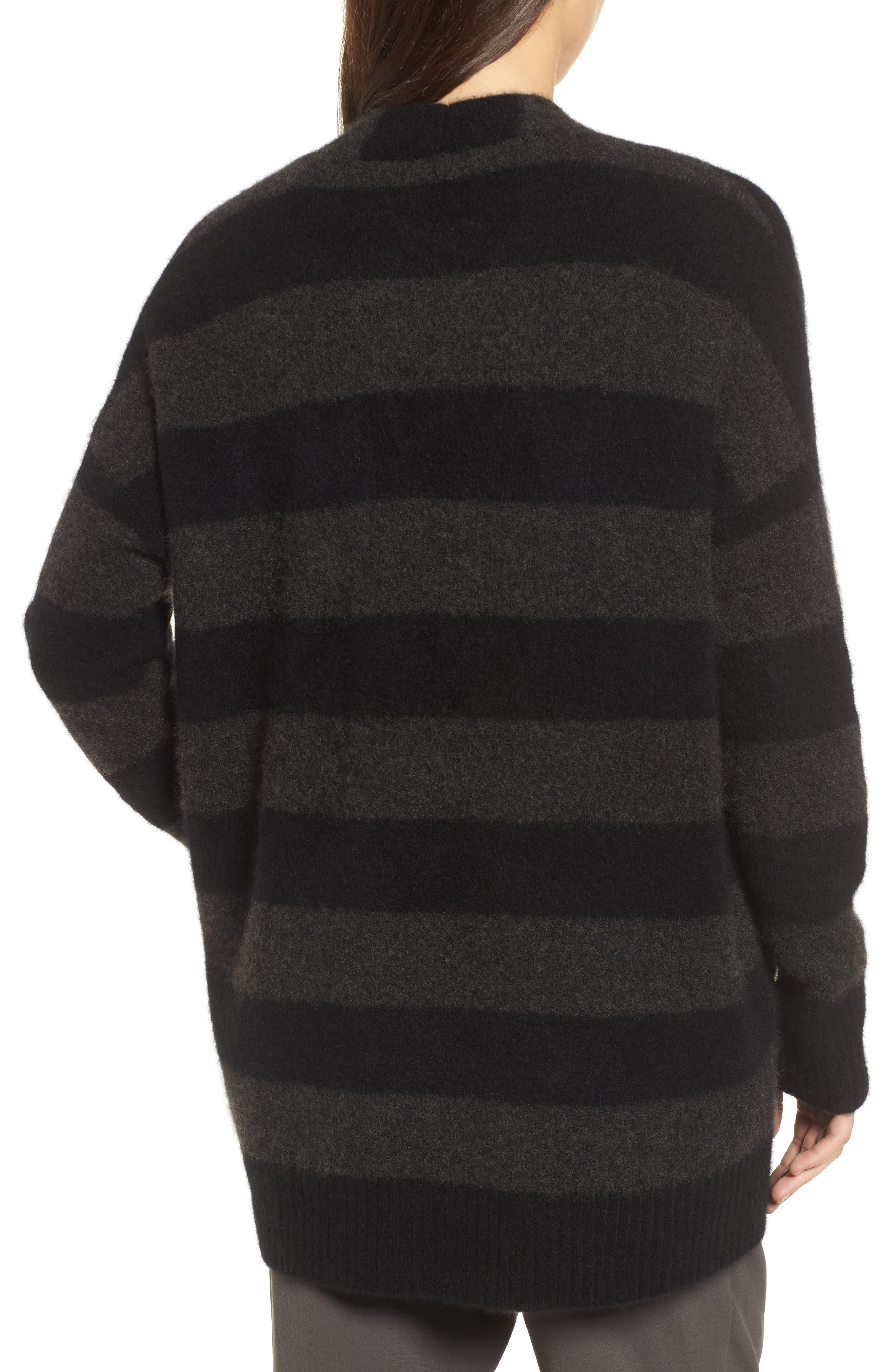 Stripe Cashmere Blend Cardigan,                             Alternate thumbnail 2, color,                             020