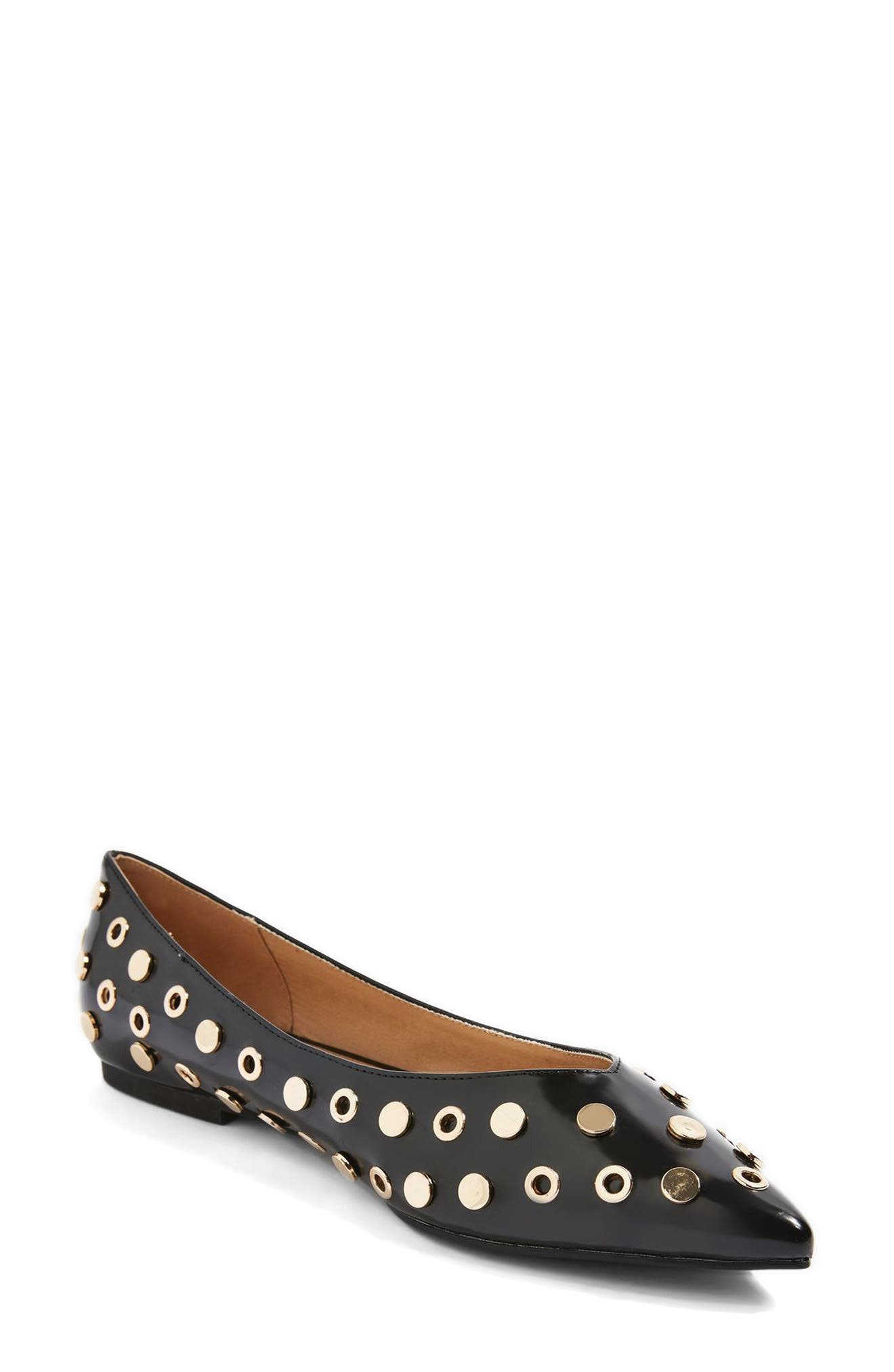 Alibi Multi Studded Flat,                             Main thumbnail 1, color,                             001