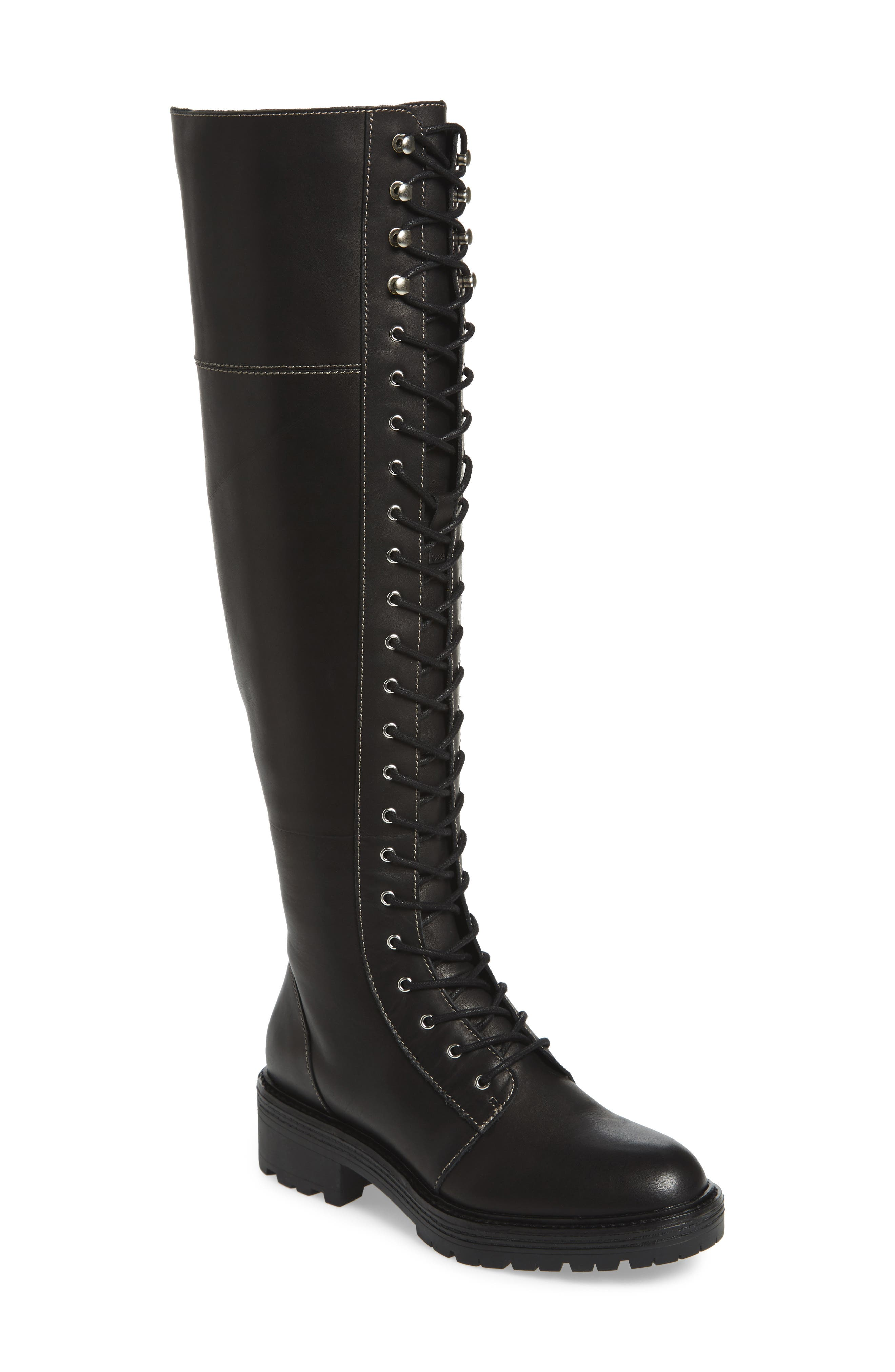 Malcom Over the Knee Boot,                             Main thumbnail 1, color,                             001
